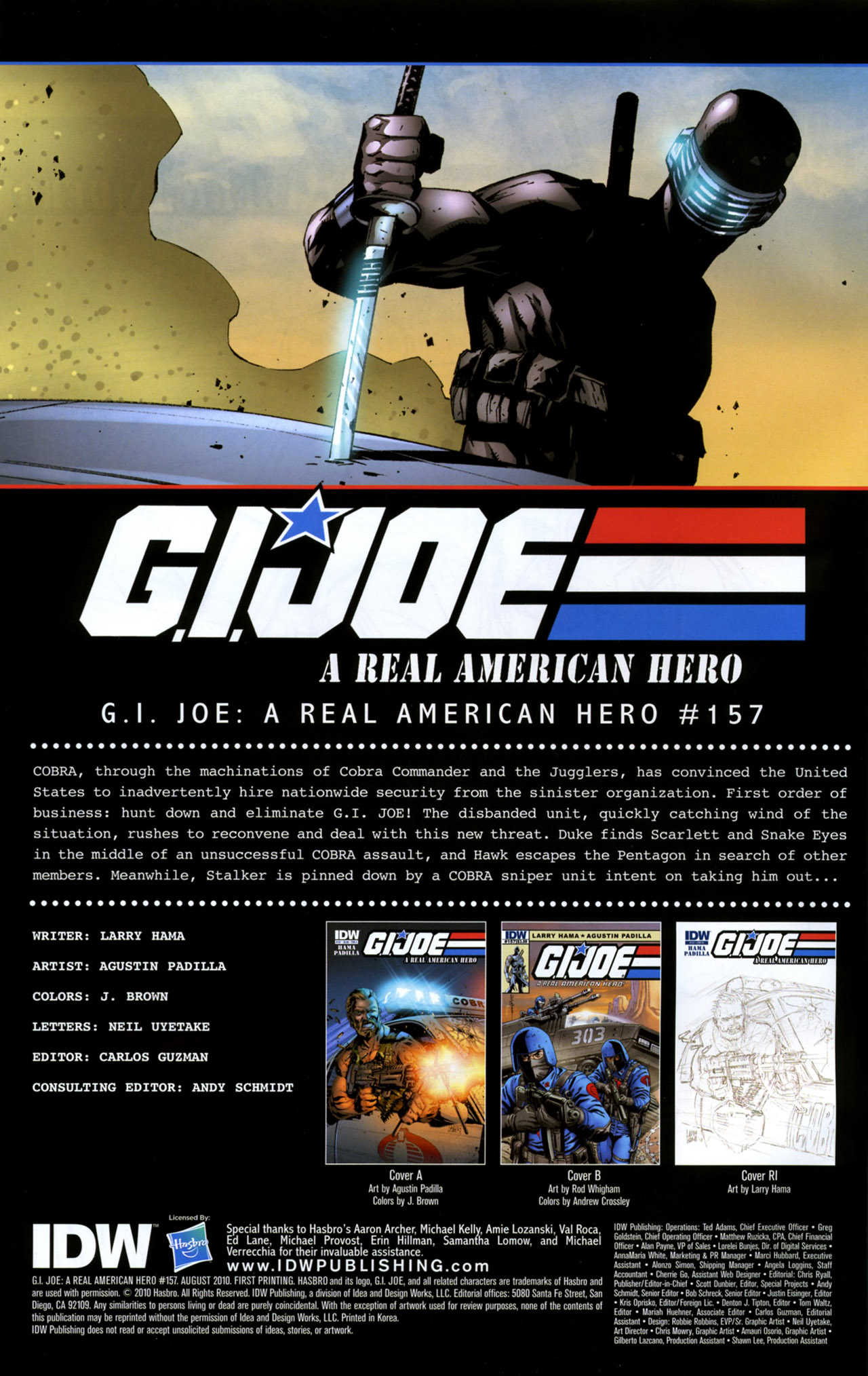 G.I. Joe: A Real American Hero 157 Page 1