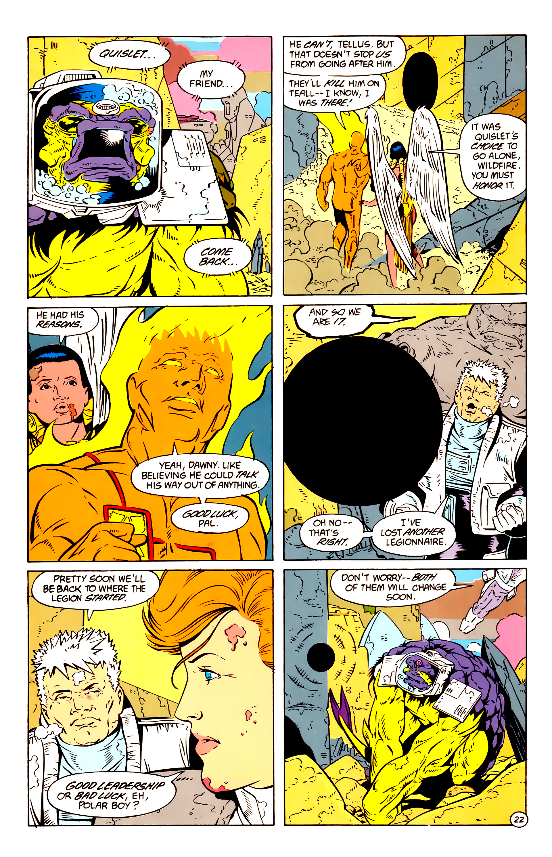 Legion of Super-Heroes (1984) 58 Page 22