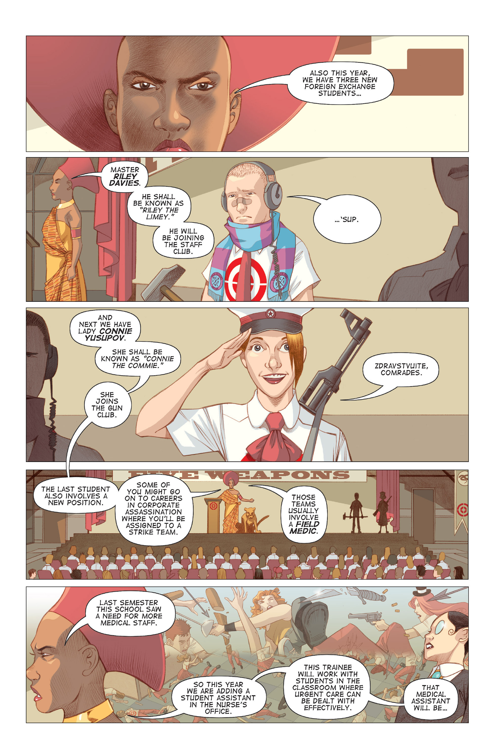 Read online Five Weapons comic -  Issue #6 - 5