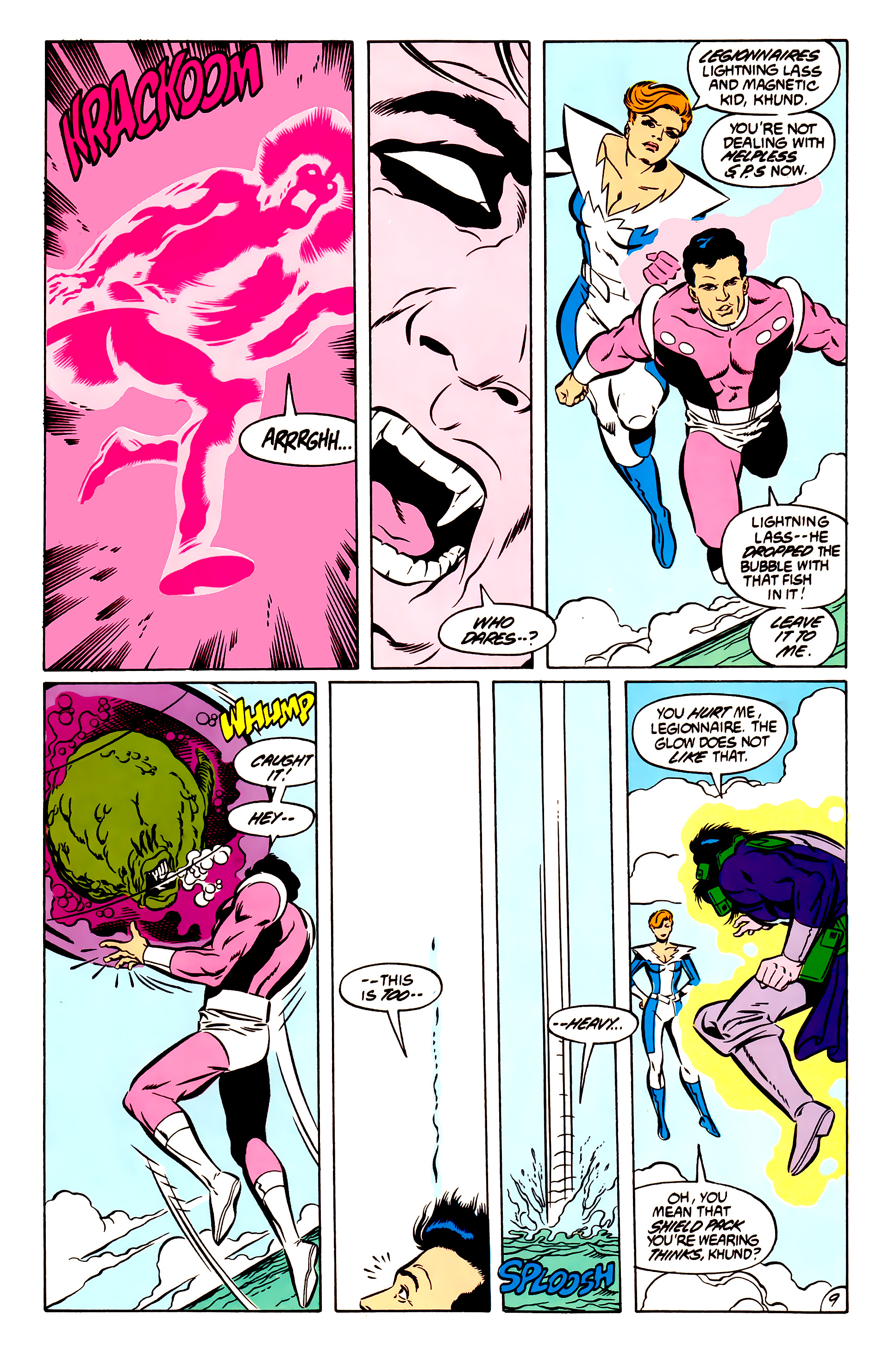 Legion of Super-Heroes (1984) 51 Page 9