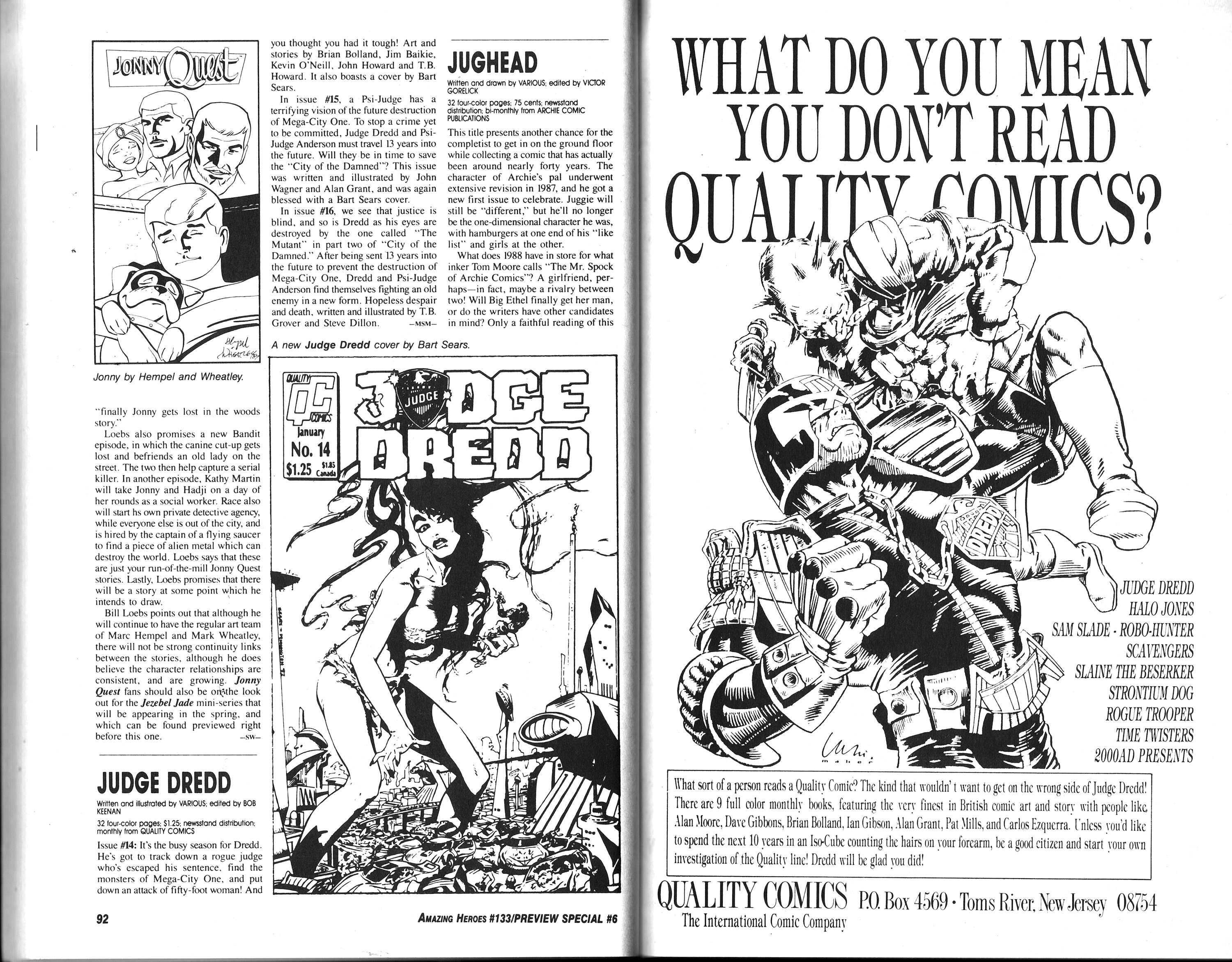 Read online Amazing Heroes comic -  Issue #133 - 48