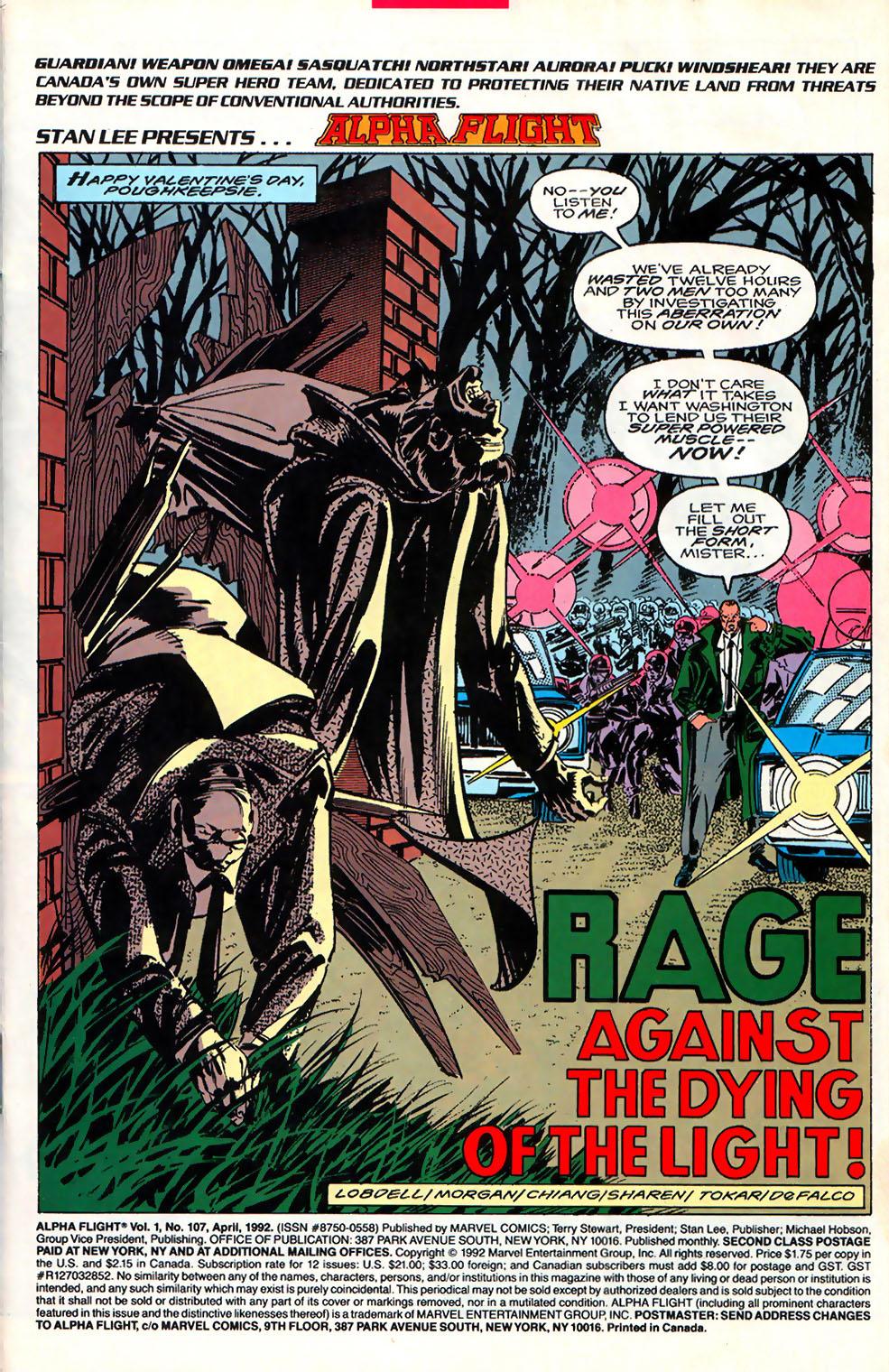 Read online Alpha Flight (1983) comic -  Issue #107 - 2