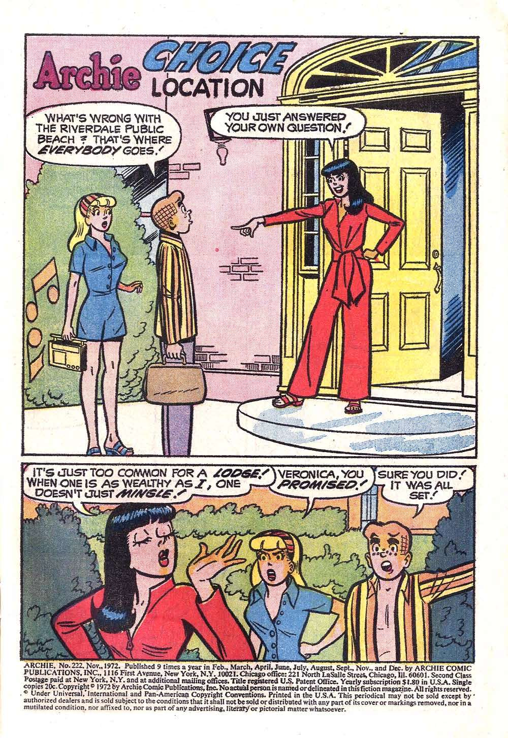 Read online Archie (1960) comic -  Issue #222 - 3