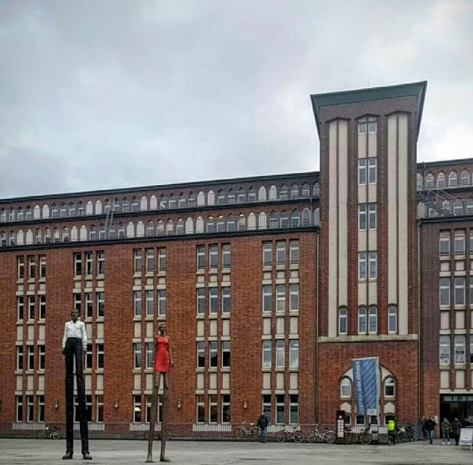 Hamburg's Main Library is in the city center