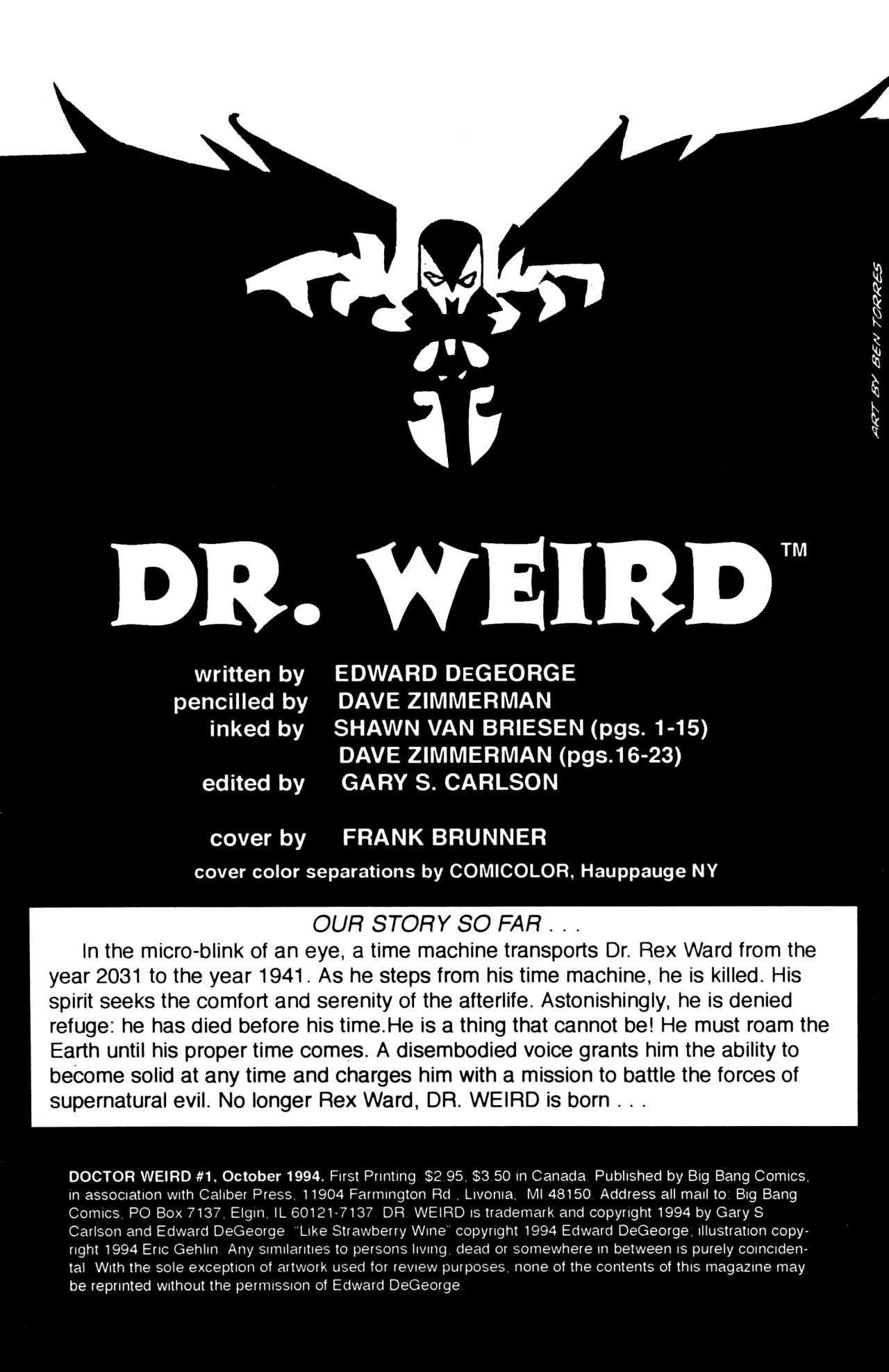 Read online Dr. Weird (1994) comic -  Issue #1 - 2