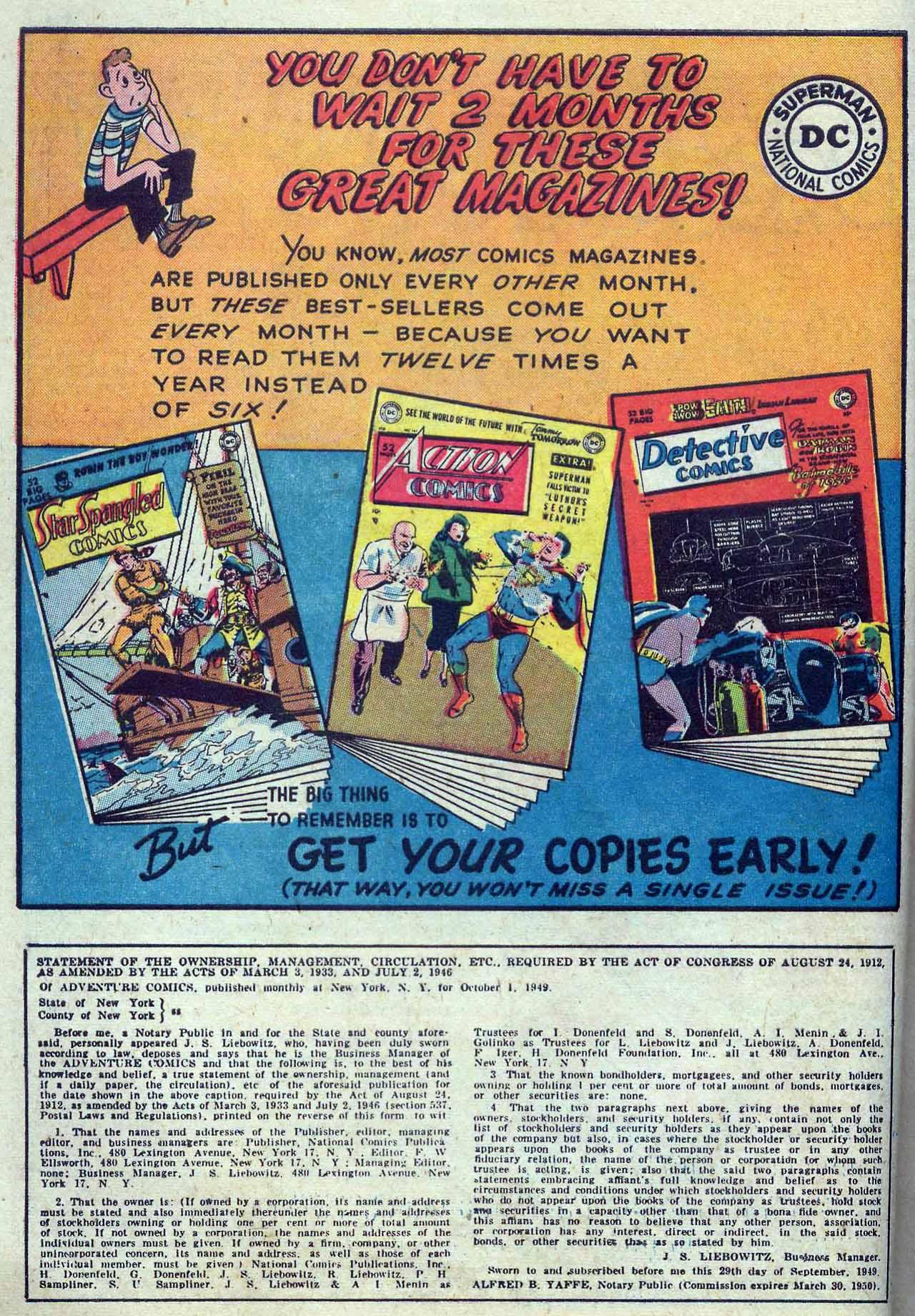 Read online Adventure Comics (1938) comic -  Issue #149 - 14