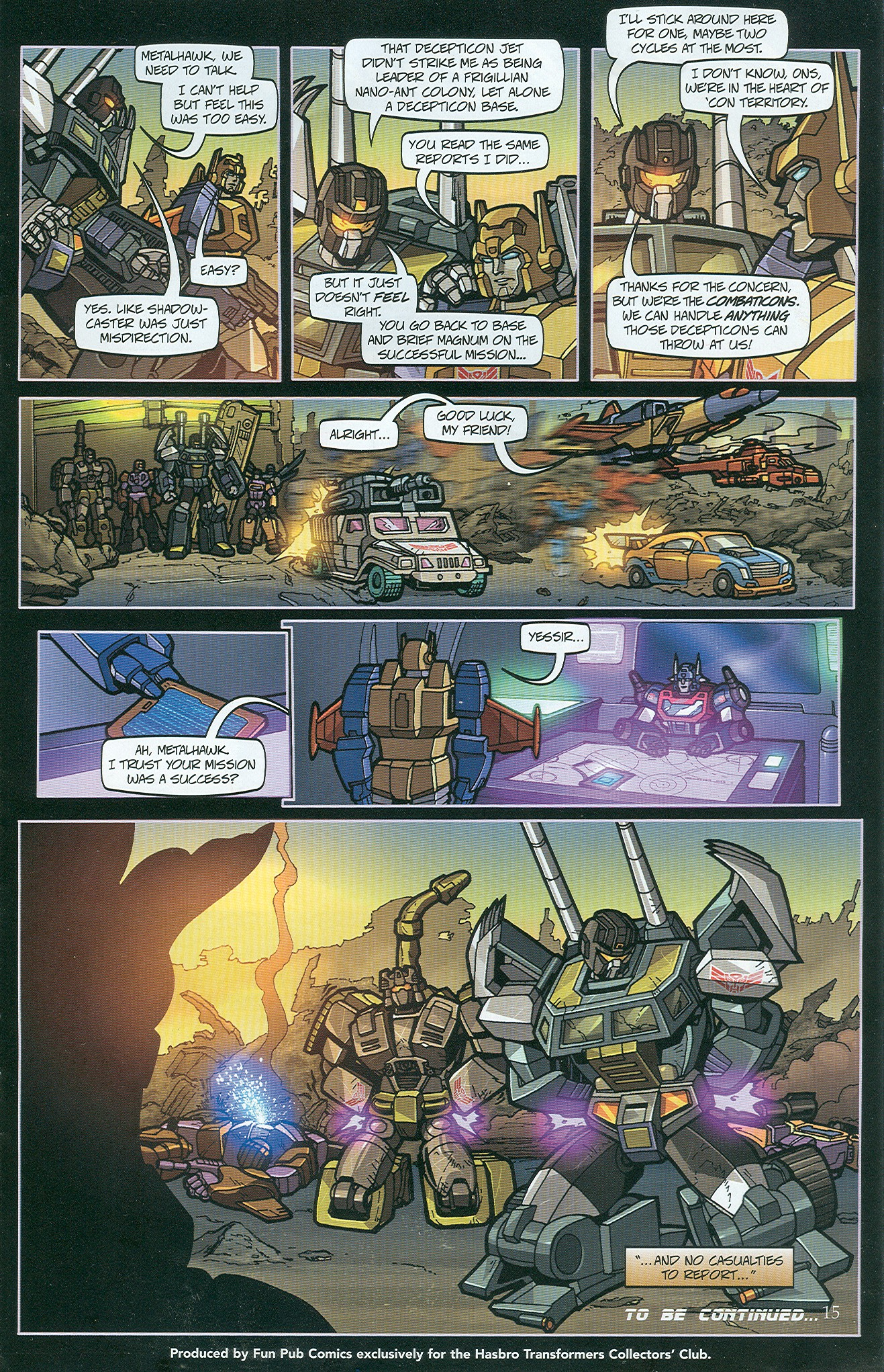 Read online Transformers: Collectors' Club comic -  Issue #33 - 15