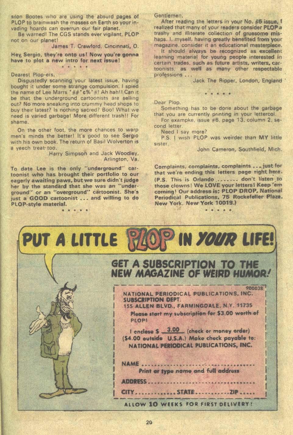 Read online Plop! comic -  Issue #9 - 21