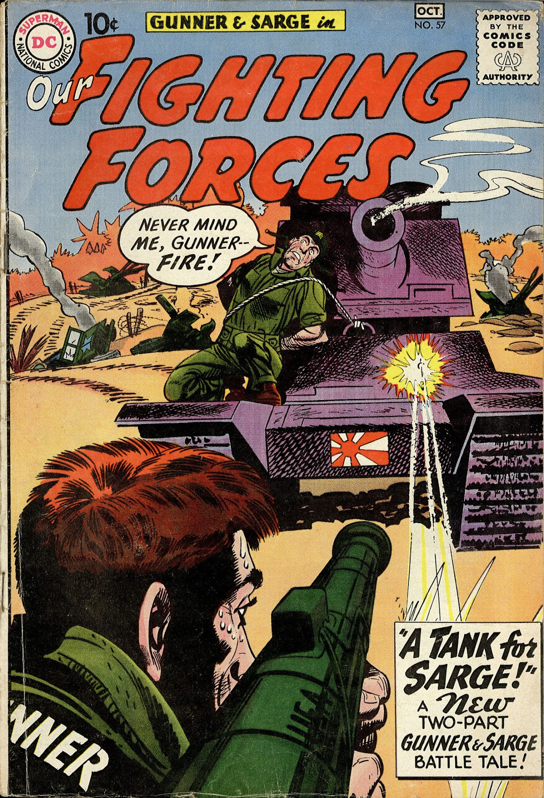 Our Fighting Forces (1954) issue 57 - Page 1