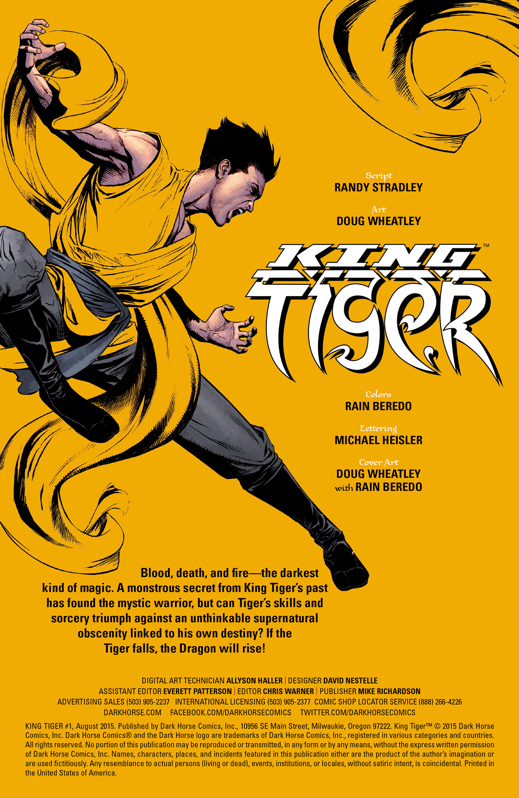 Read online King Tiger comic -  Issue #1 - 2
