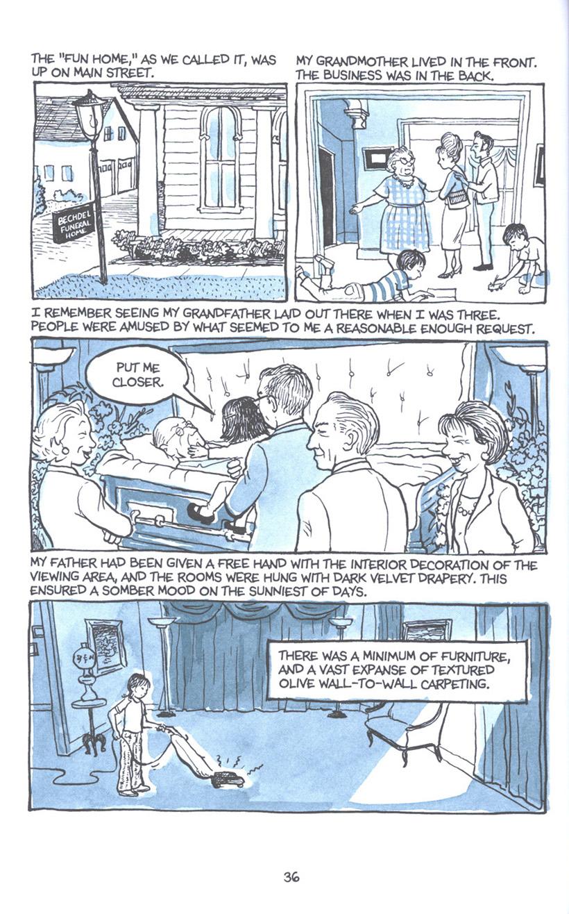 Read online Fun Home: A Family Tragicomic comic -  Issue # TPB - 43