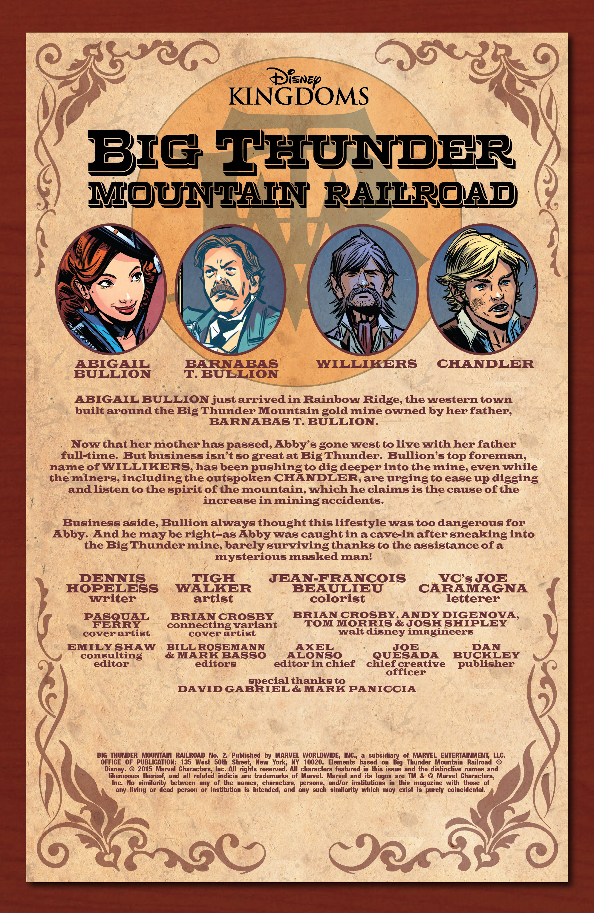 Read online Big Thunder Mountain Railroad comic -  Issue #2 - 3