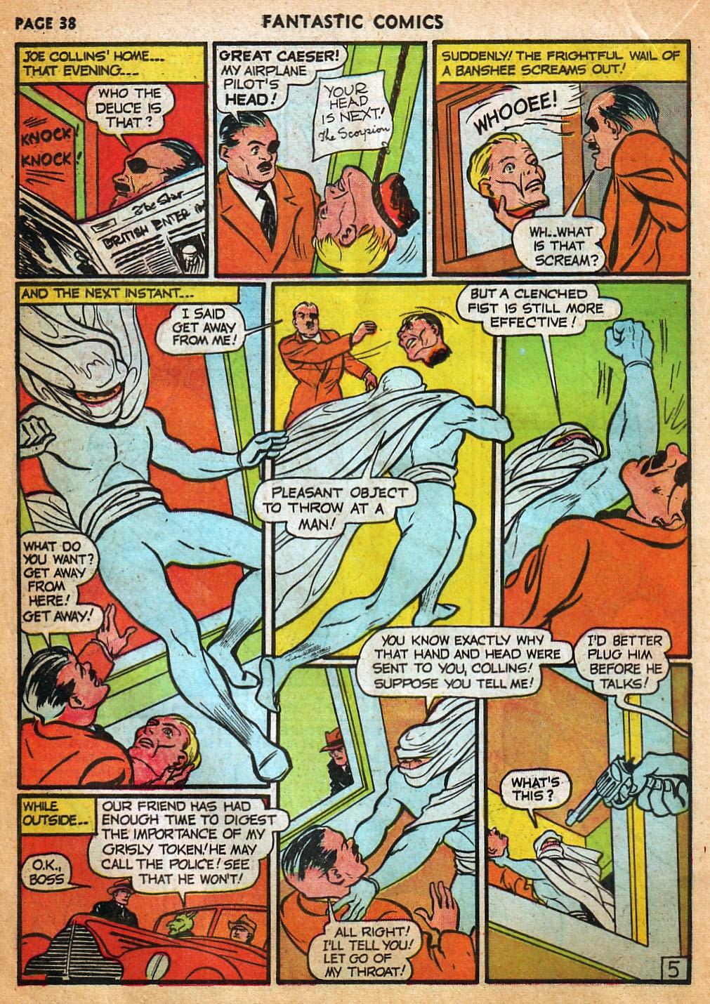 Read online Fantastic Comics comic -  Issue #22 - 39
