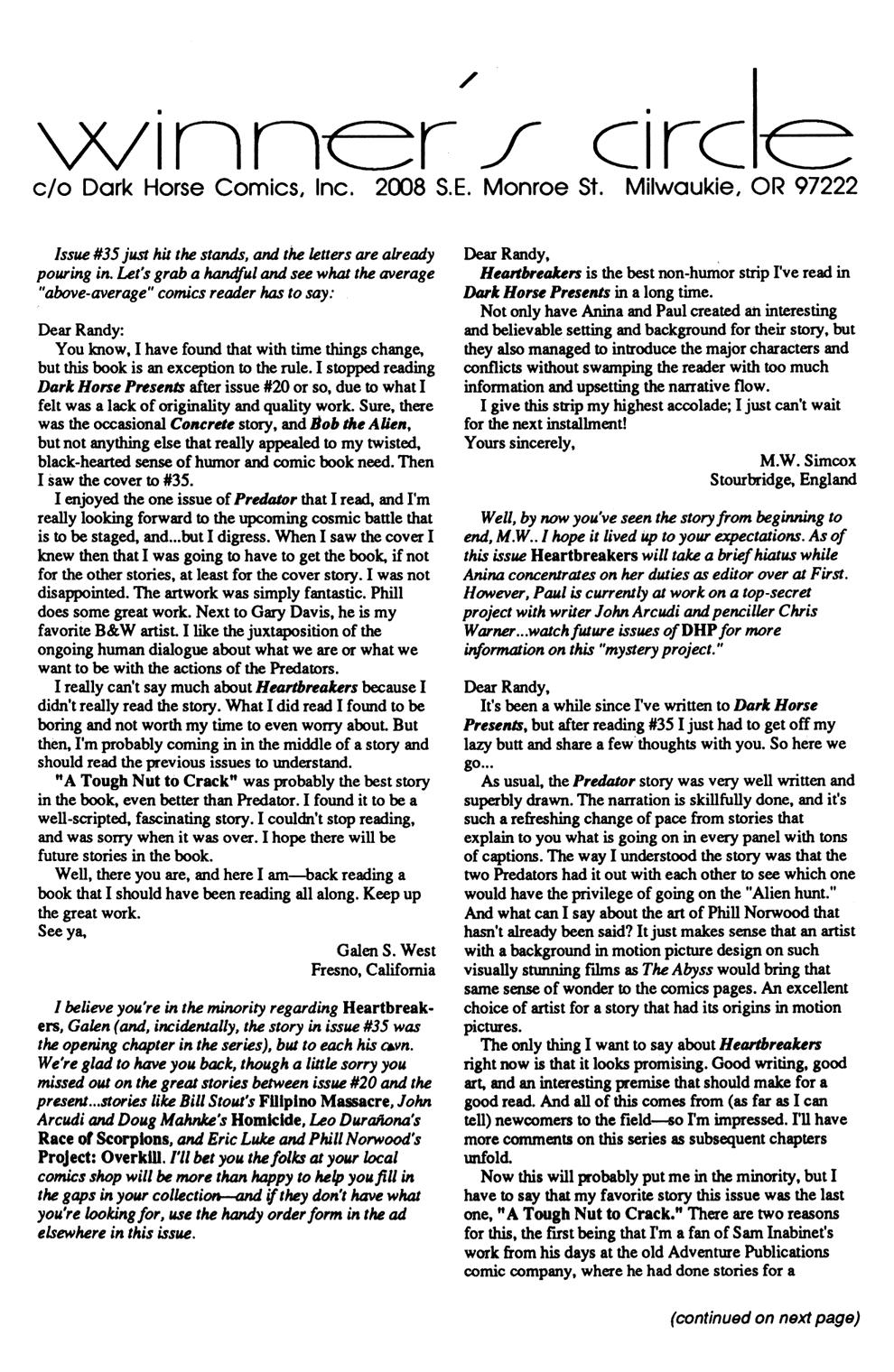 Dark Horse Presents (1986) Issue #37 #42 - English 12
