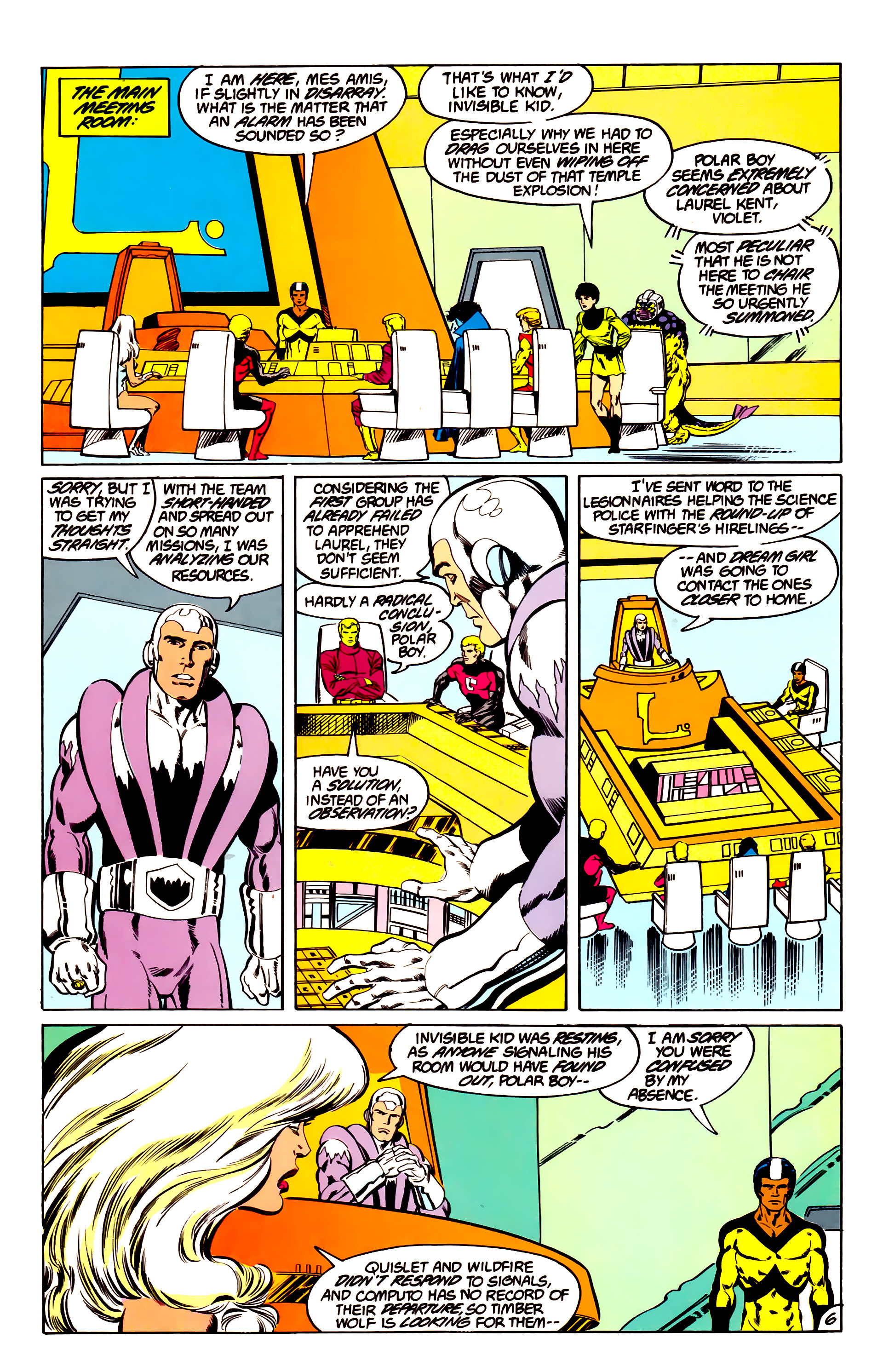 Legion of Super-Heroes (1984) 43 Page 6