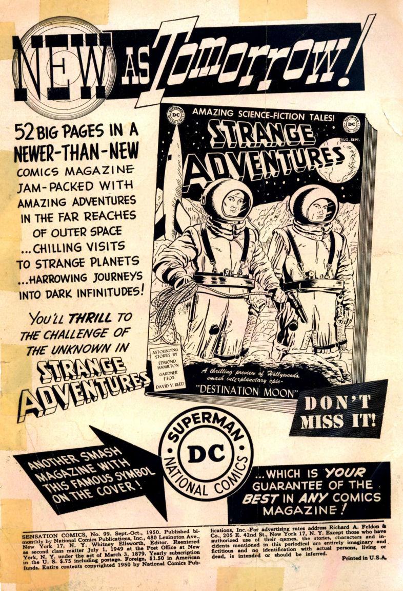 Read online Sensation (Mystery) Comics comic -  Issue #99 - 2