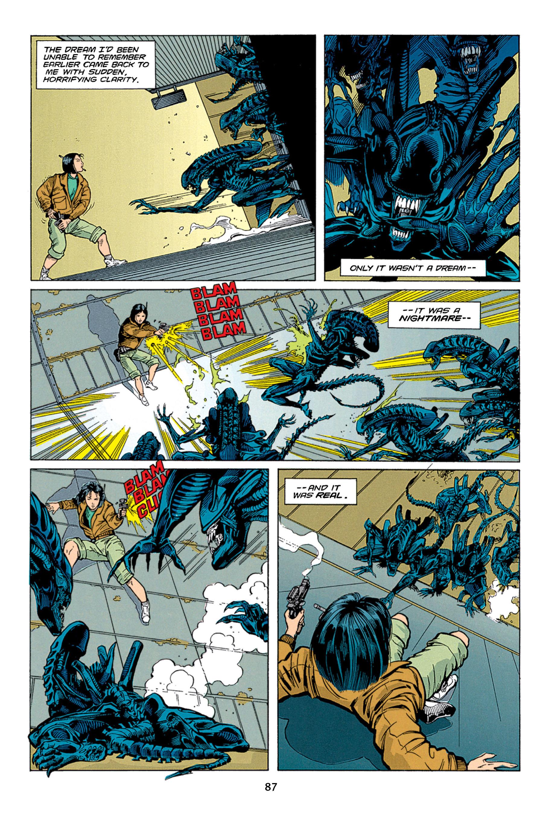 Read online Aliens vs. Predator Omnibus comic -  Issue # _TPB 1 Part 1 - 87