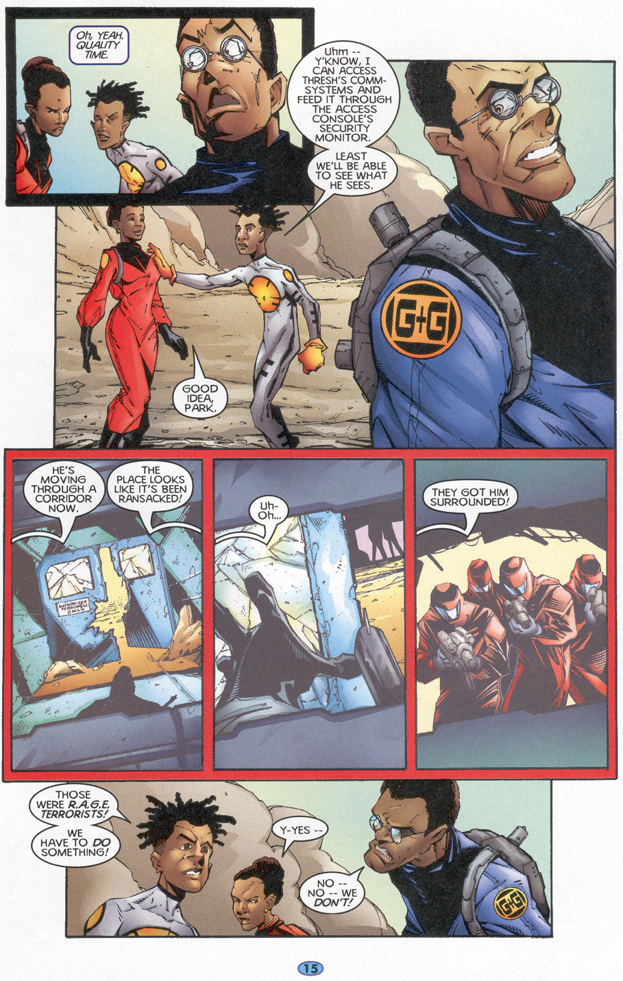 Read online Troublemakers comic -  Issue #4 - 14