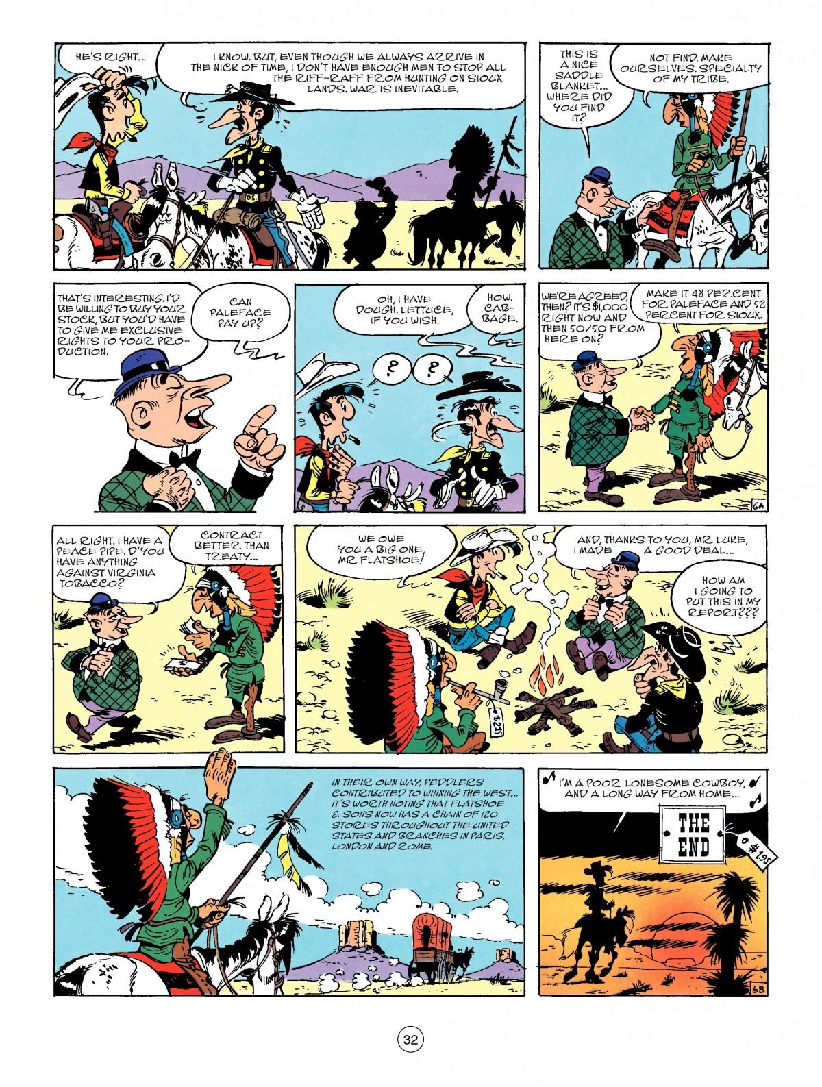 Read online A Lucky Luke Adventure comic -  Issue #50 - 32
