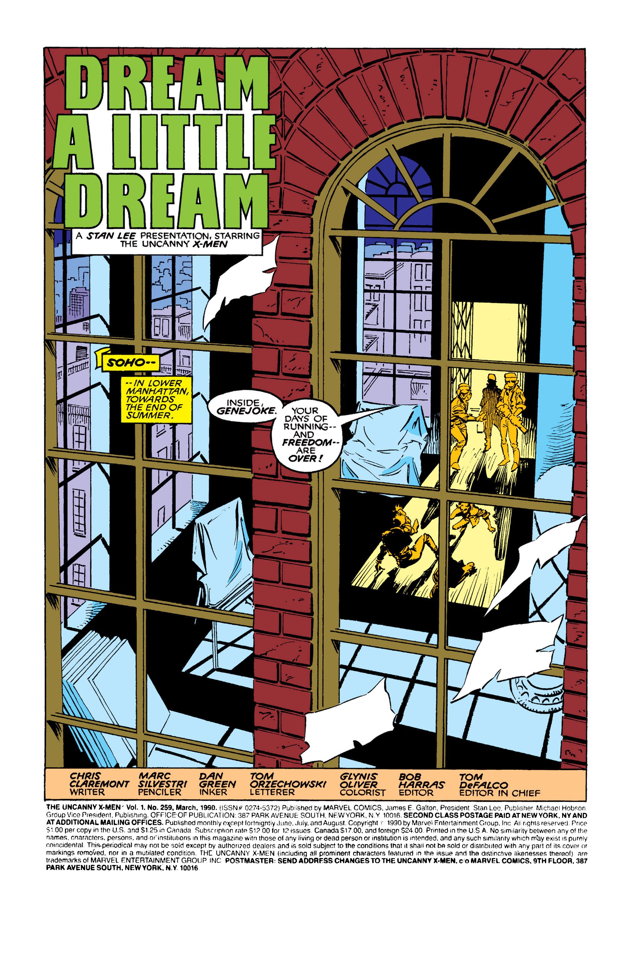 Read online Uncanny X-Men (1963) comic -  Issue #259 - 2