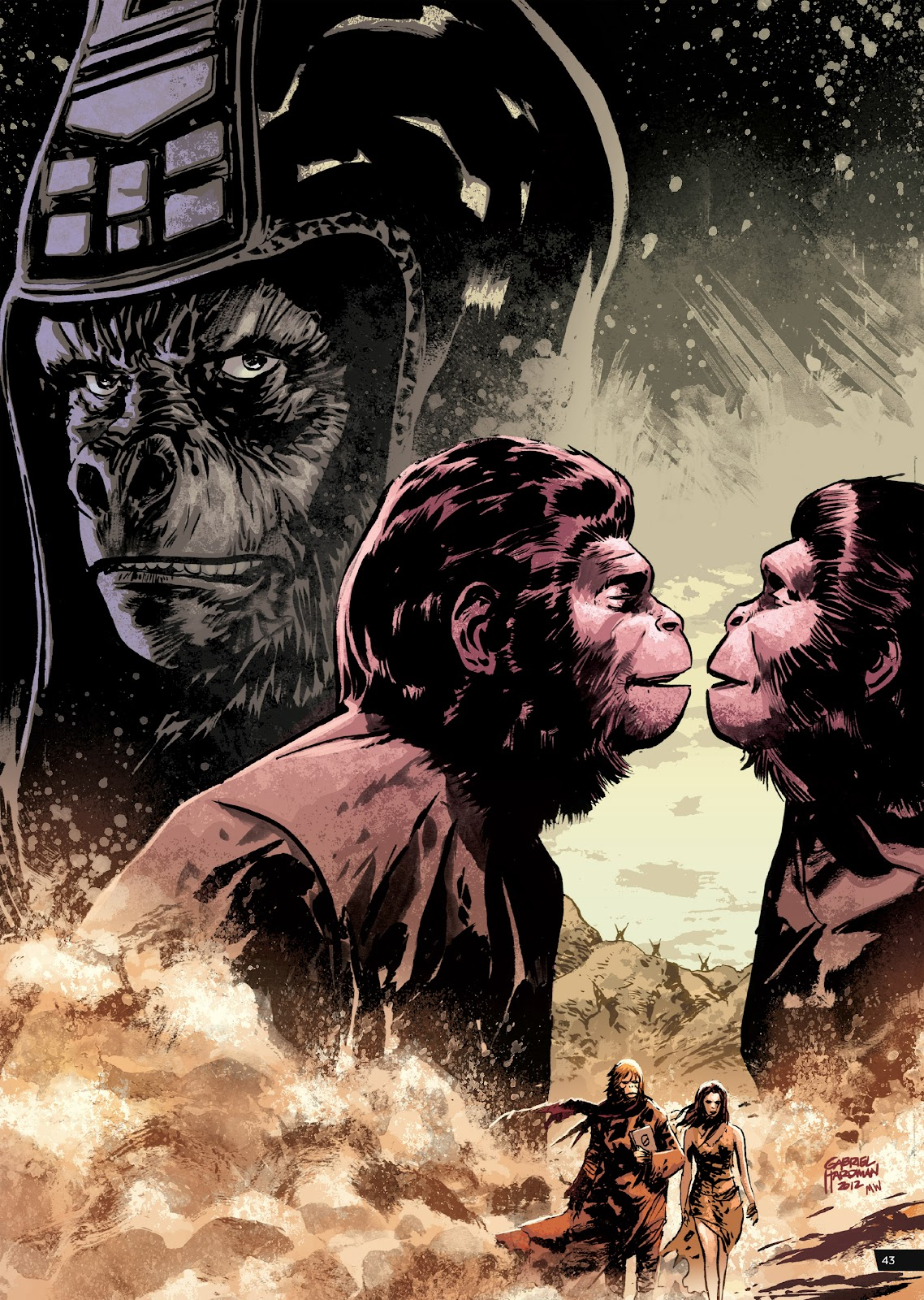 Read online Planet of the Apes Artist Tribute comic -  Issue # TPB - 43