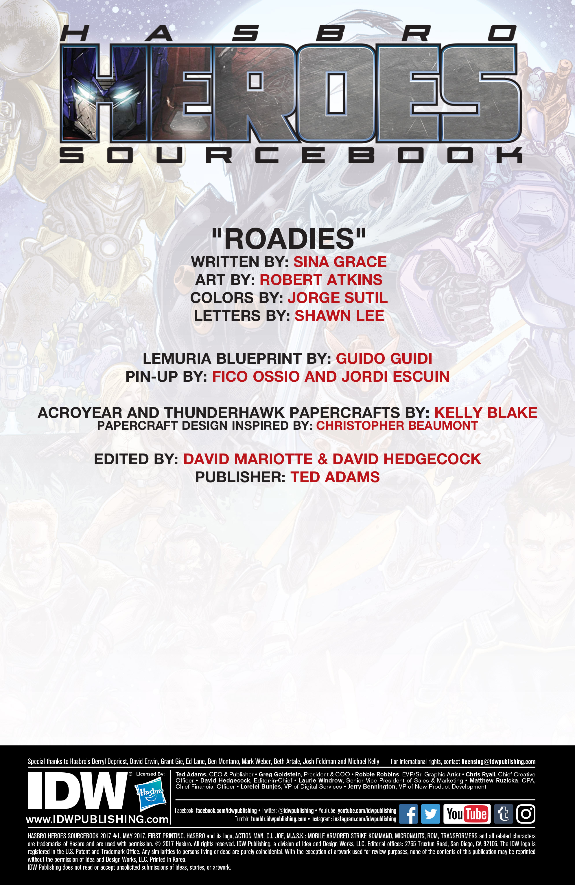 Read online Hasbro Heroes Sourcebook comic -  Issue #1 - 2