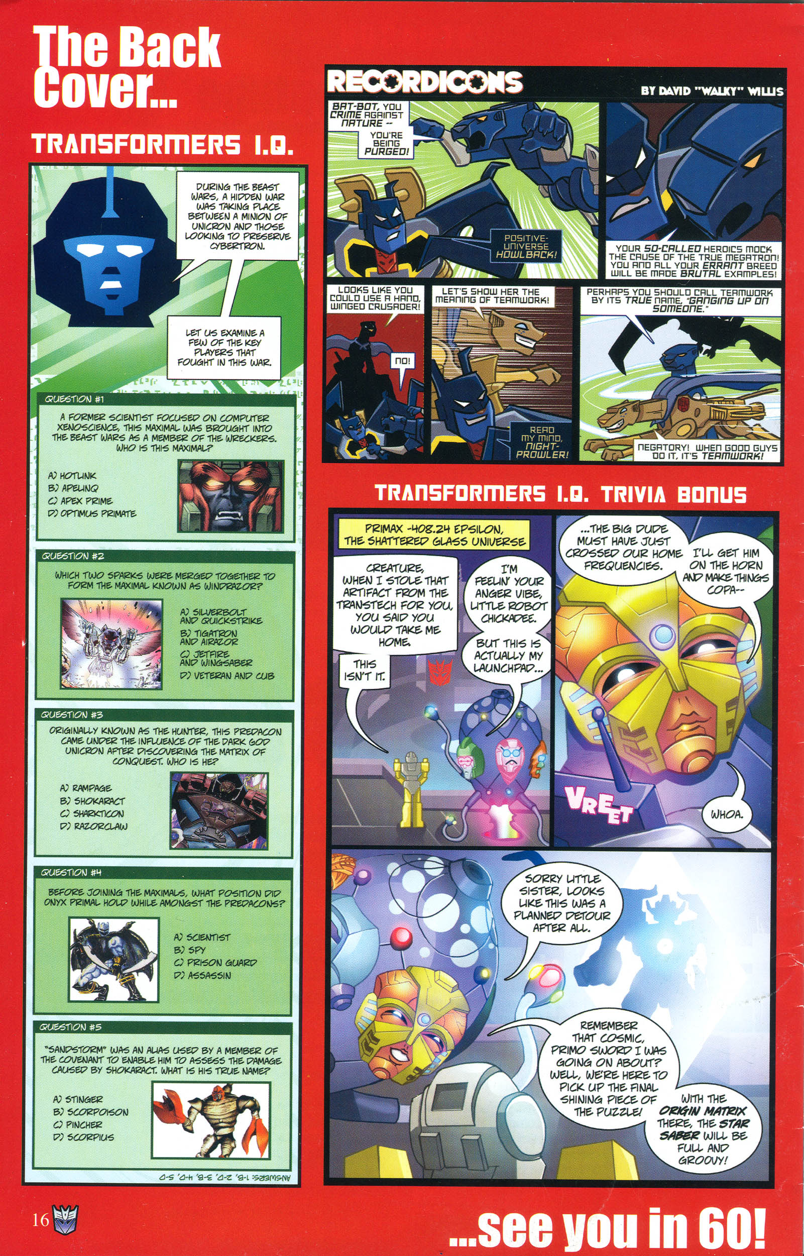 Read online Transformers: Collectors' Club comic -  Issue #54 - 16