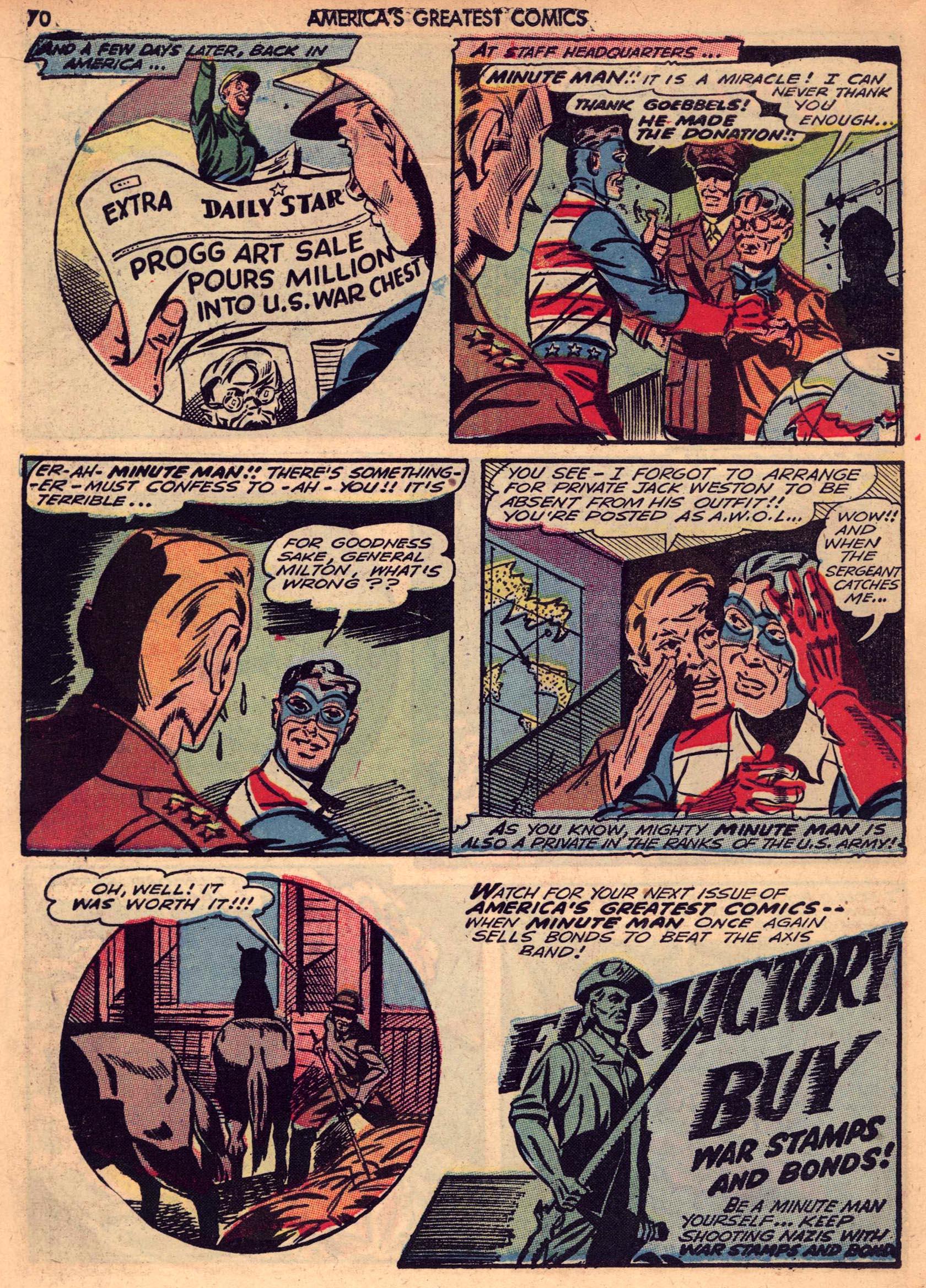 Read online America's Greatest Comics comic -  Issue #7 - 69
