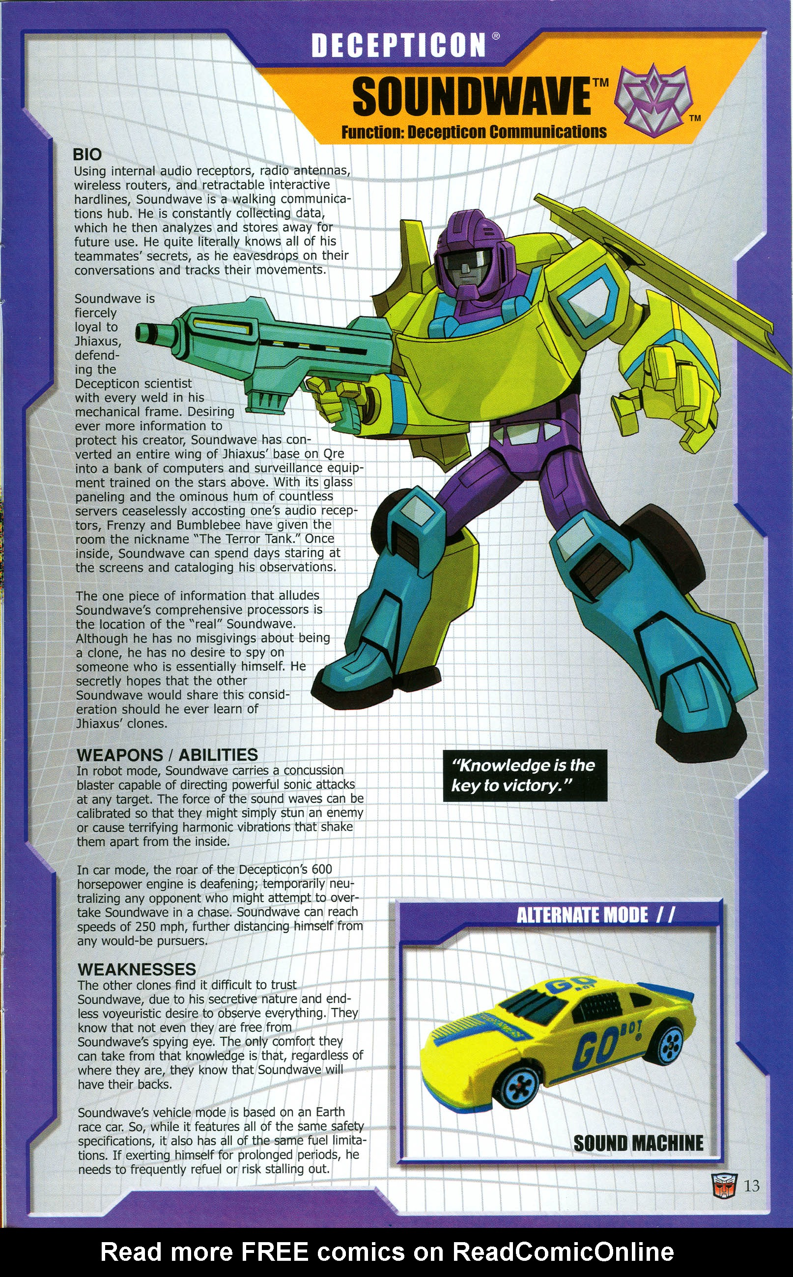 Read online Transformers: Collectors' Club comic -  Issue #47 - 13
