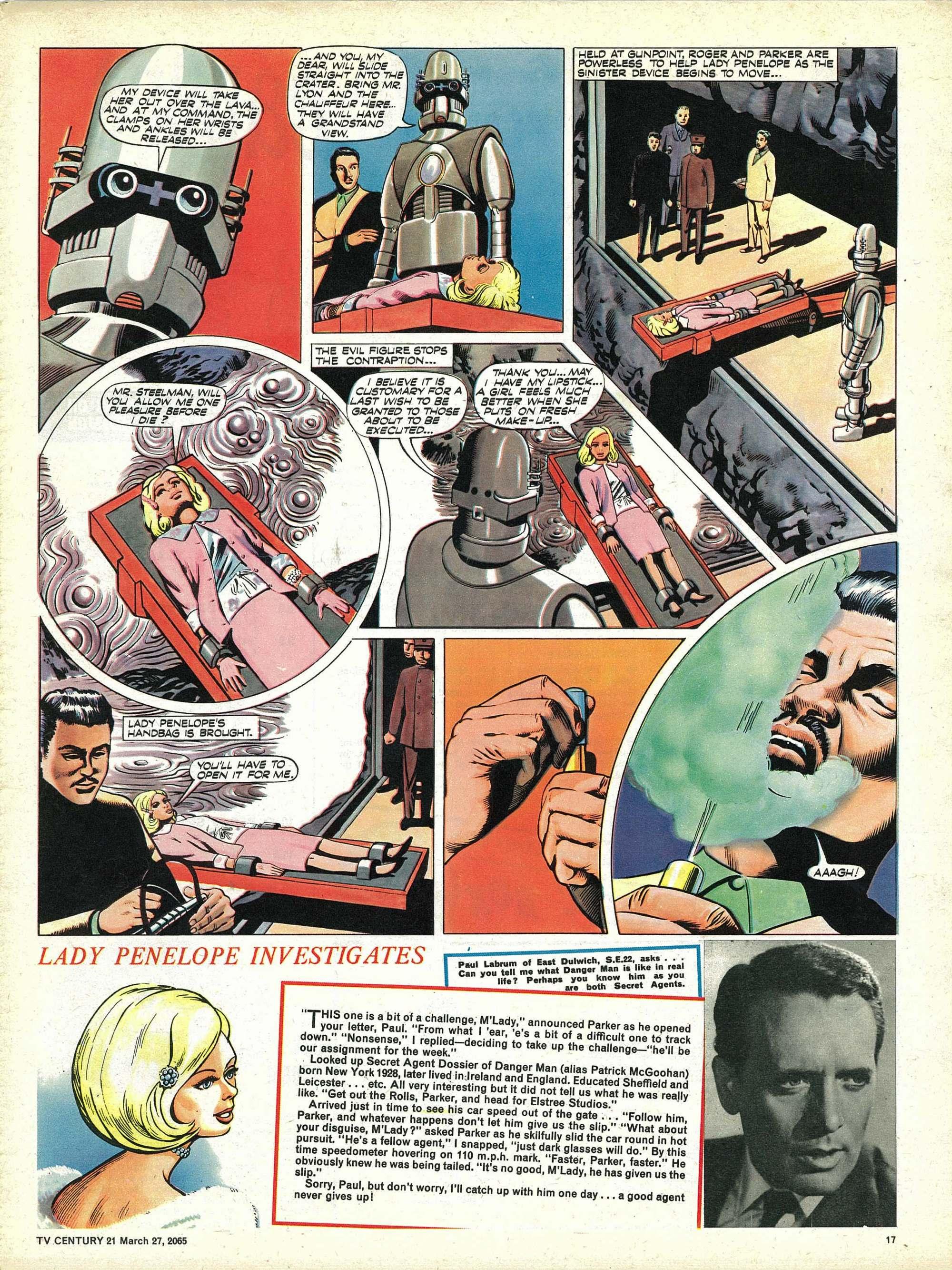 Read online TV Century 21 (TV 21) comic -  Issue #10 - 16