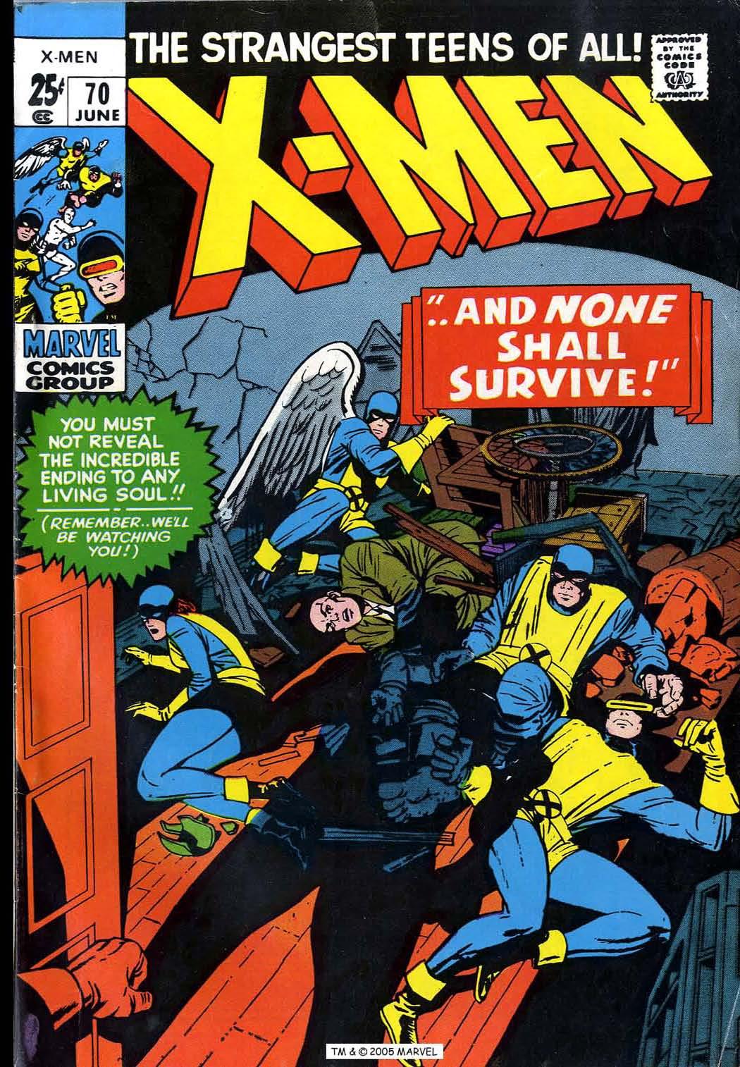 Uncanny X-Men (1963) issue 70 - Page 1