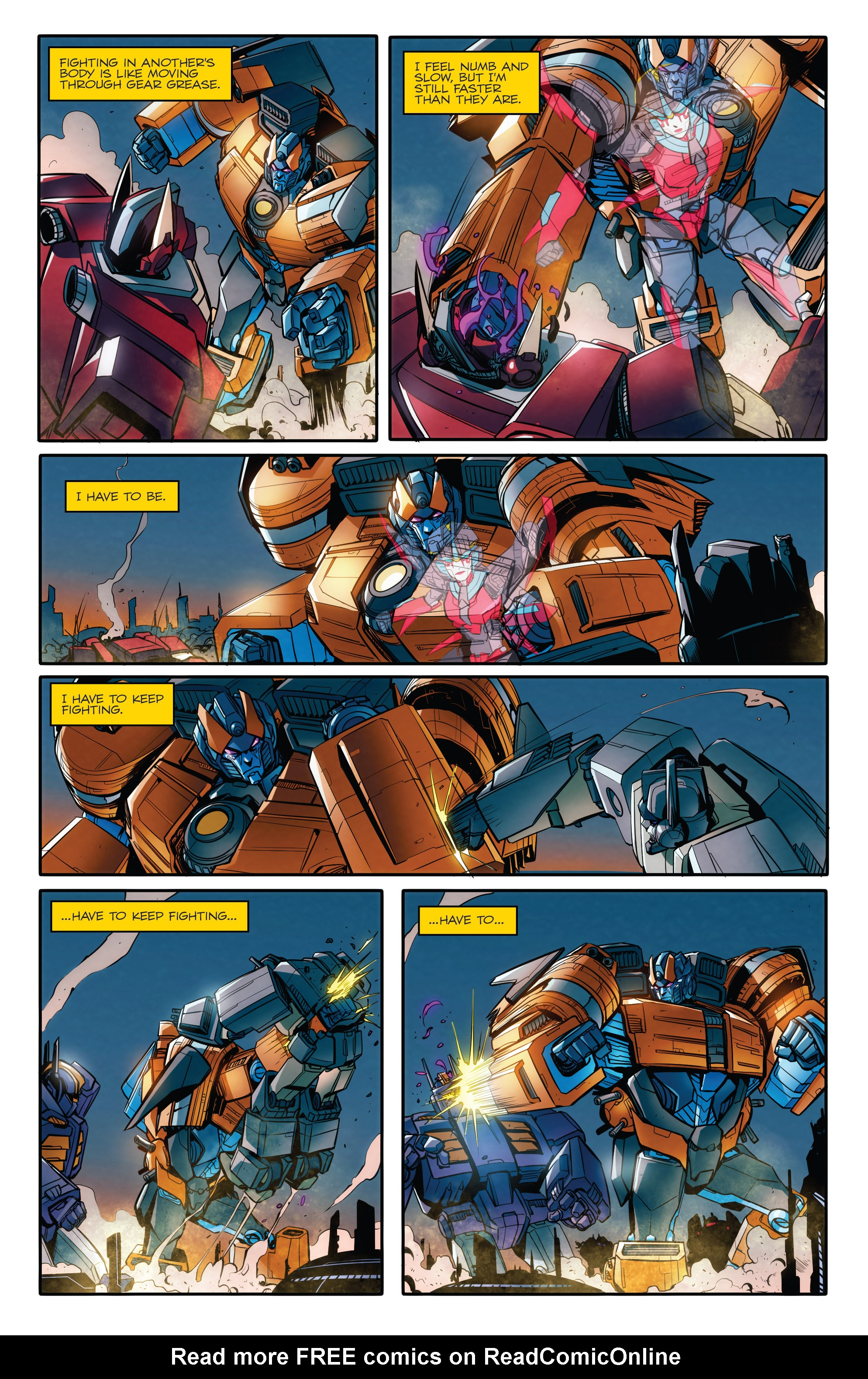 Read online Transformers: Till All Are One comic -  Issue #8 - 9