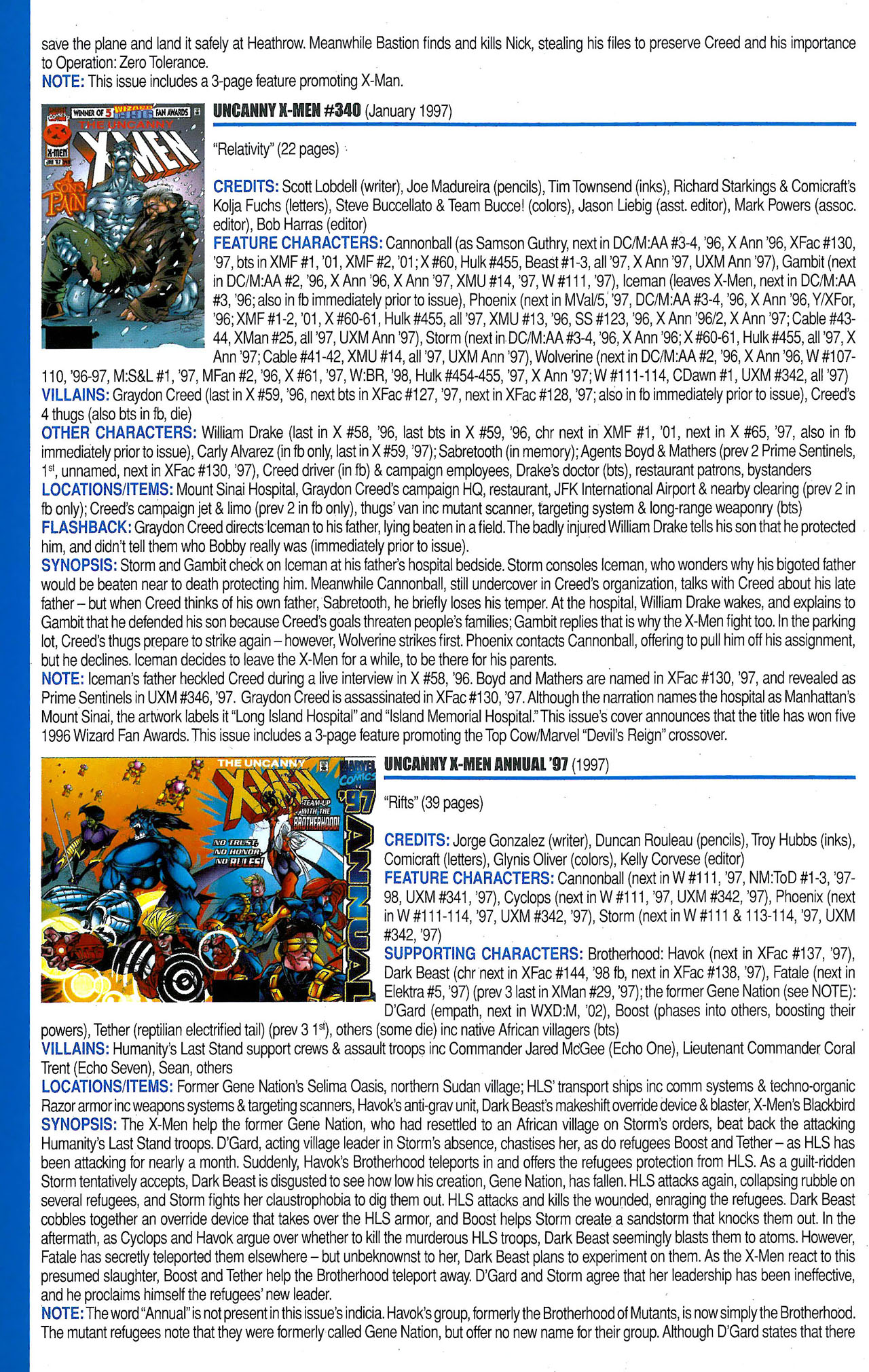 Read online Official Index to the Marvel Universe comic -  Issue #9 - 46