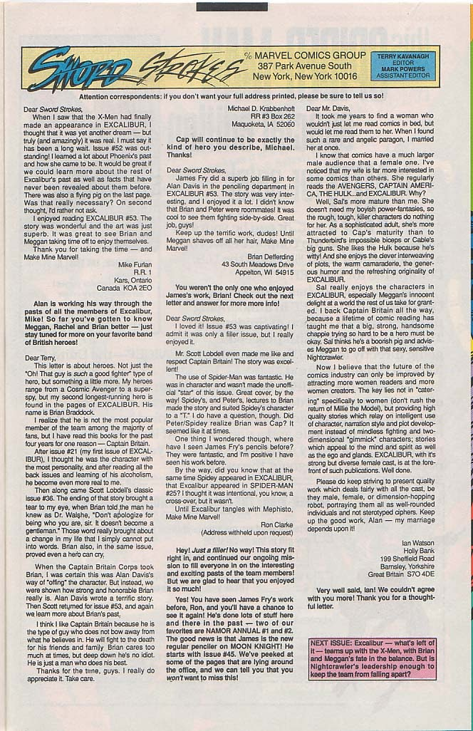 Excalibur (1988) issue 57 - Page 24