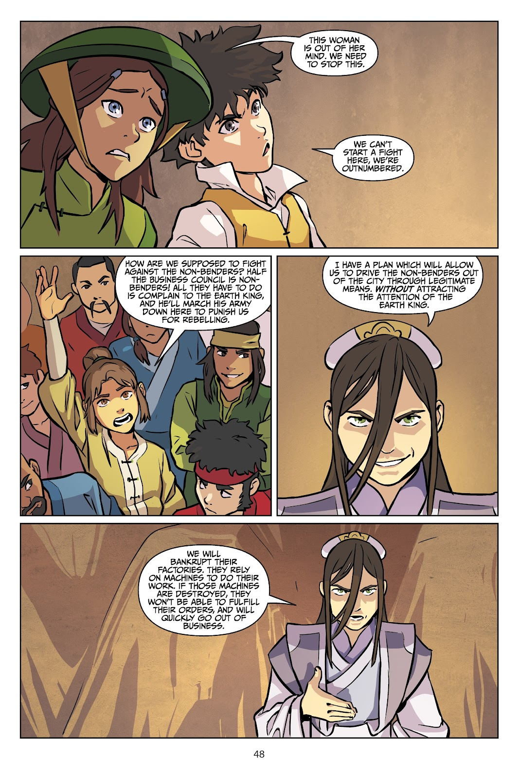 Read online Nickelodeon Avatar: The Last Airbender - Imbalance comic -  Issue # TPB 2 - 49