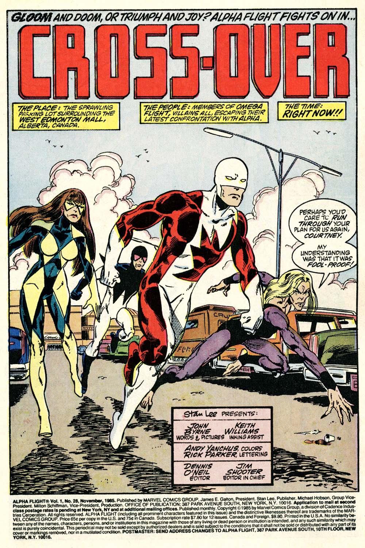 Read online Alpha Flight (1983) comic -  Issue #28 - 2
