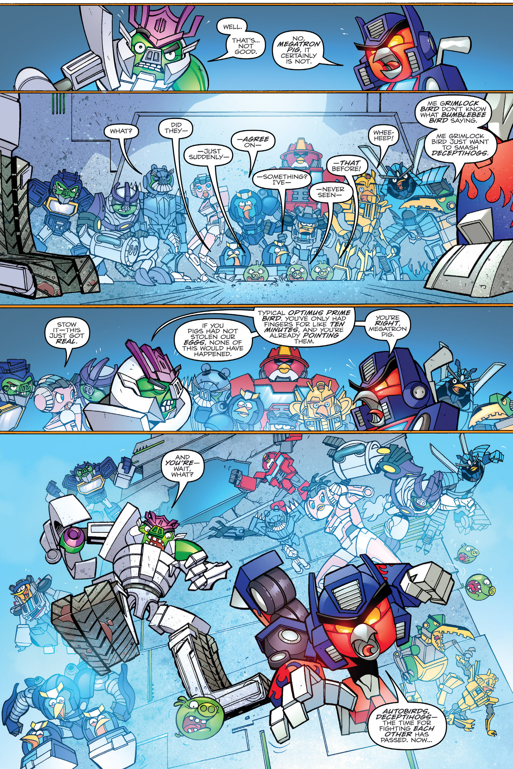 Read online Angry Birds Transformers: Age of Eggstinction comic -  Issue # Full - 50