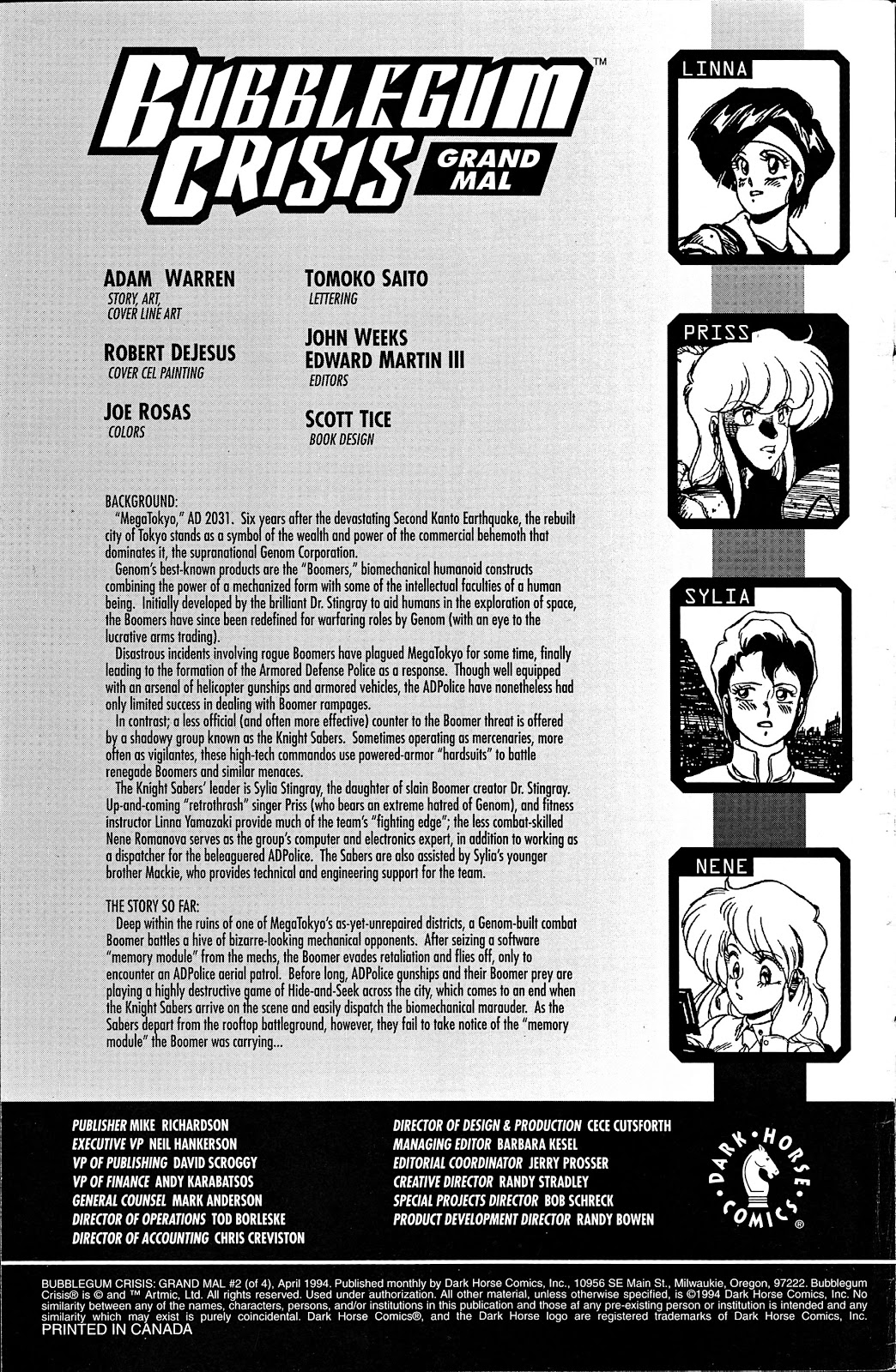 Bubblegum Crisis: Grand Mal issue 2 - Page 2