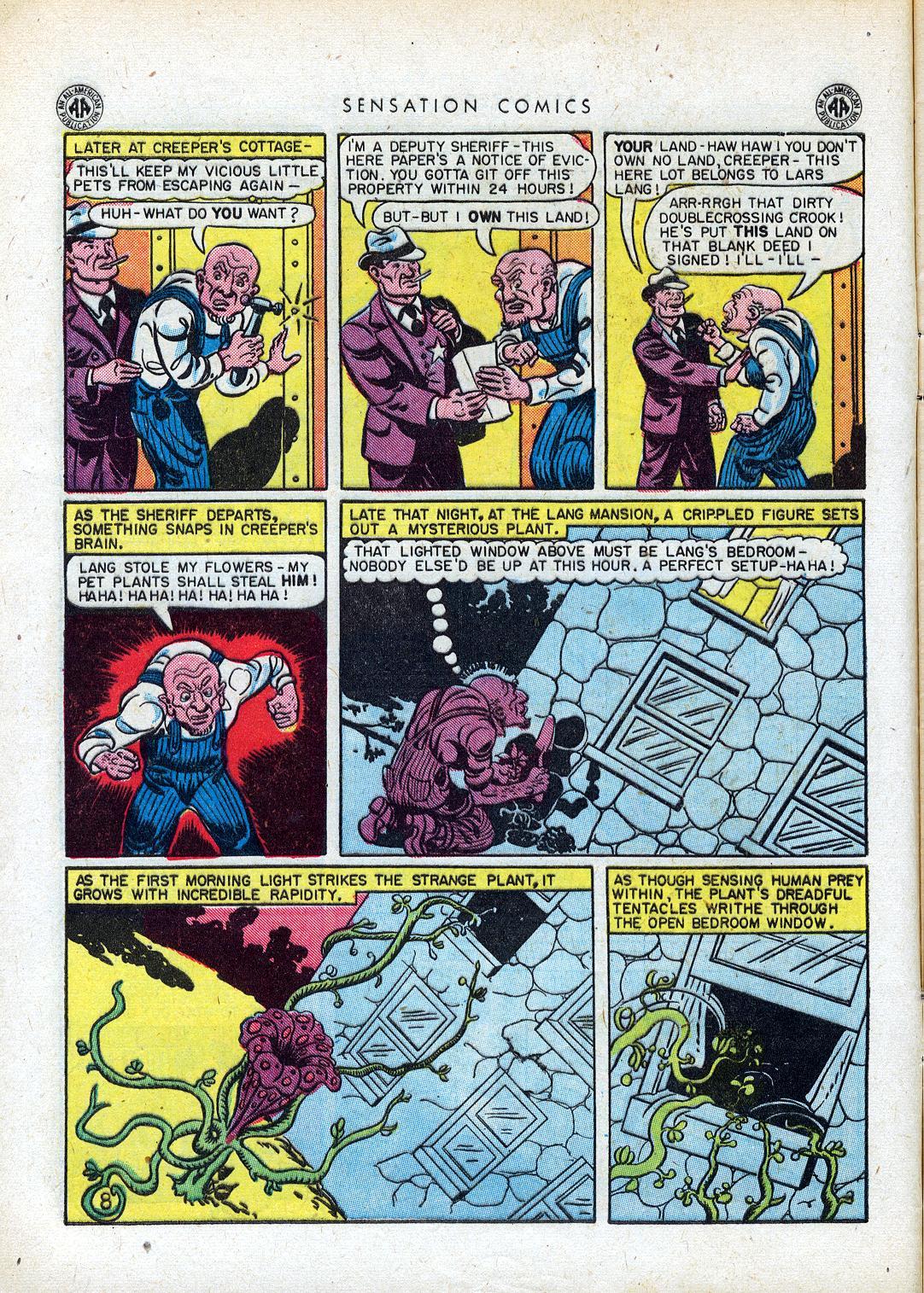 Read online Sensation (Mystery) Comics comic -  Issue #41 - 10