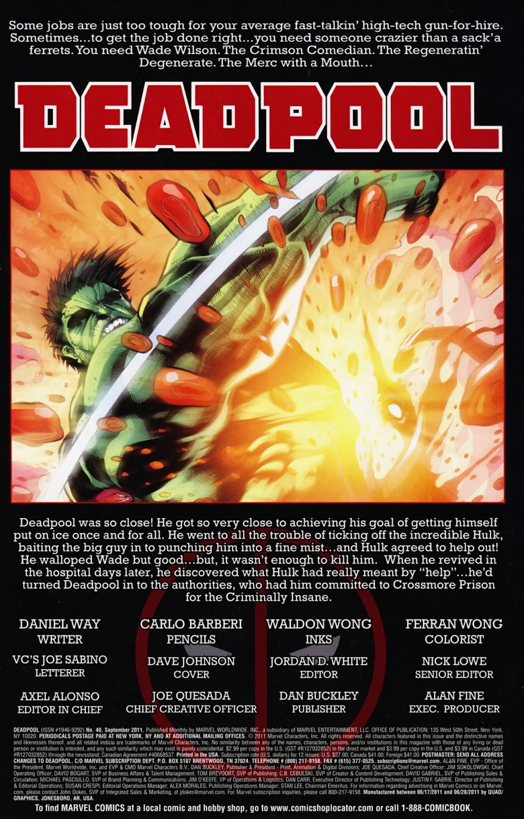 Read online Deadpool (2008) comic -  Issue #40 - 2