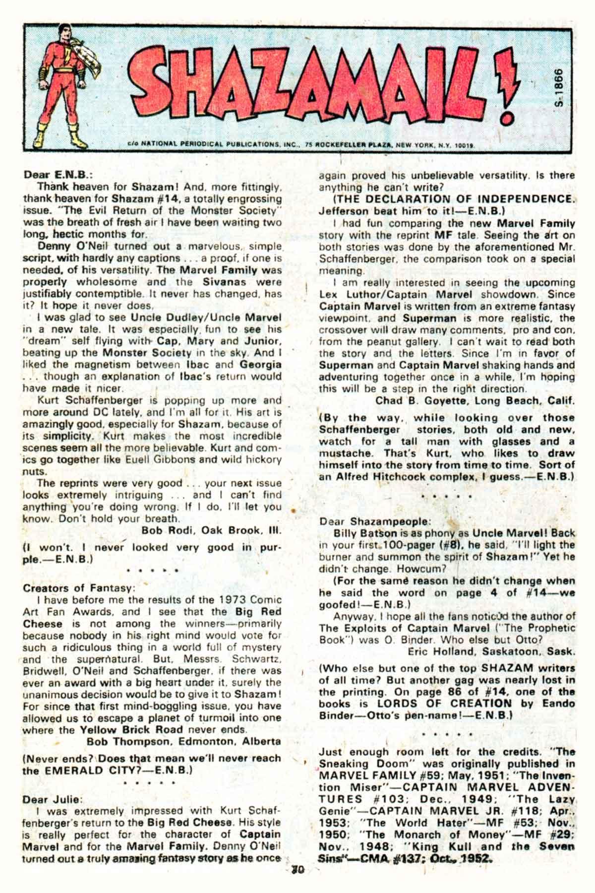 Read online Shazam! (1973) comic -  Issue #16 - 70