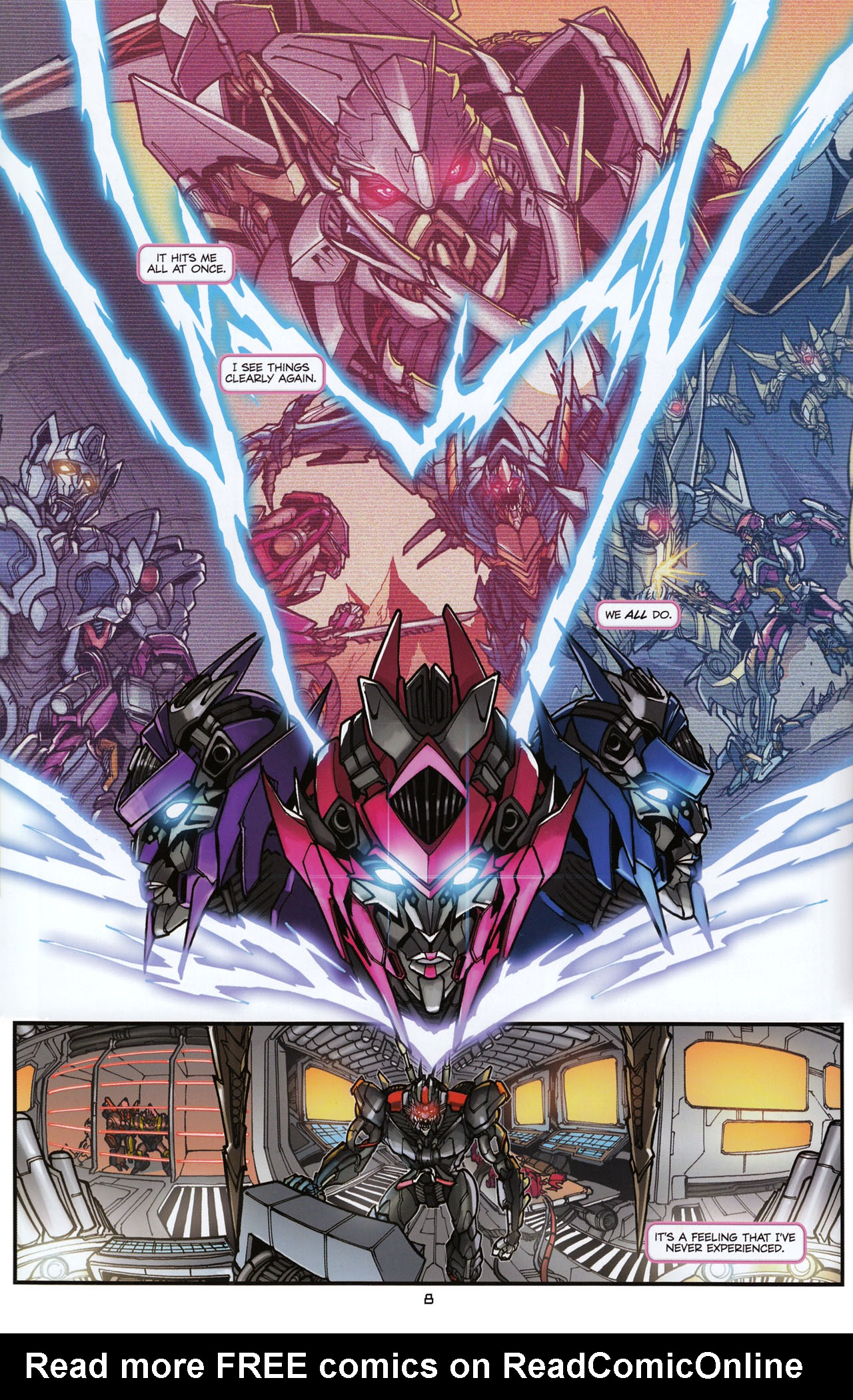 Read online Transformers: Tales of The Fallen comic -  Issue #6 - 10