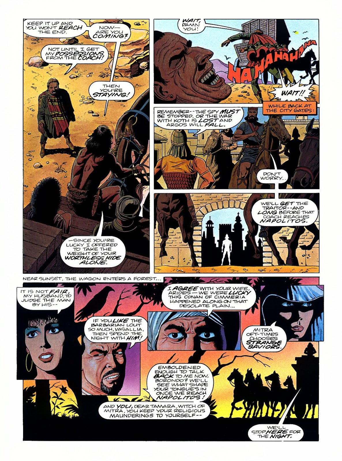 Read online Marvel Graphic Novel: Conan the Barbarian: The Skull of Set comic -  Issue # Full - 23