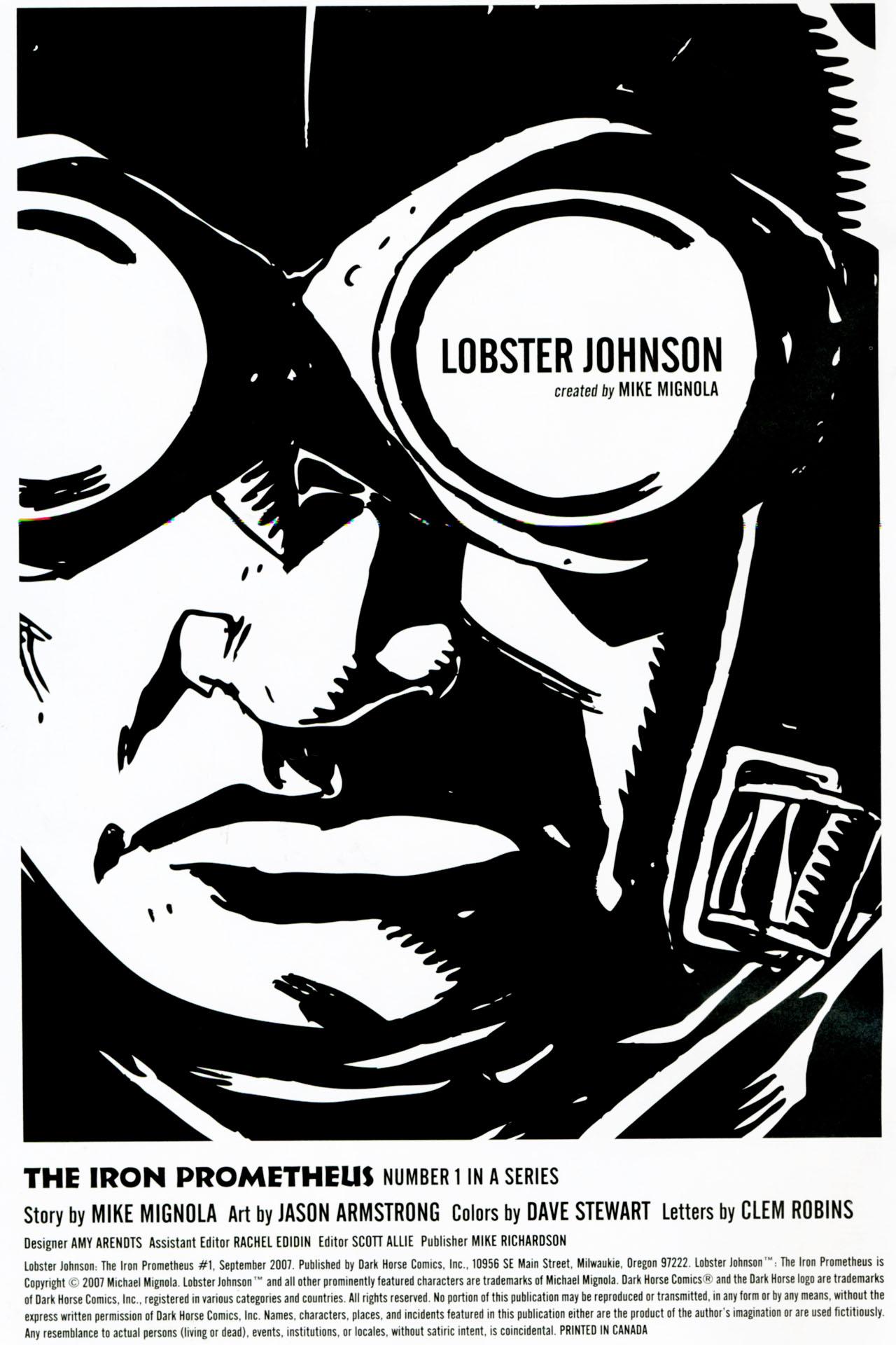 Read online Lobster Johnson: The Iron Prometheus comic -  Issue #1 - 2
