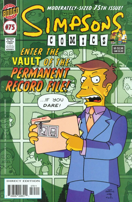 Read online Simpsons Comics comic -  Issue #75 - 1
