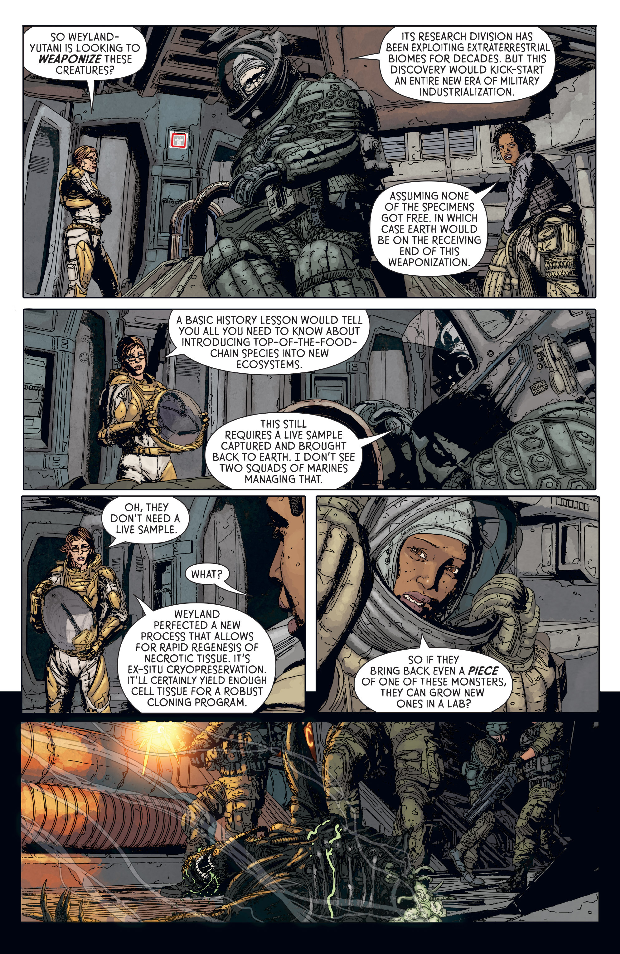 Read online Aliens: Defiance comic -  Issue #6 - 16