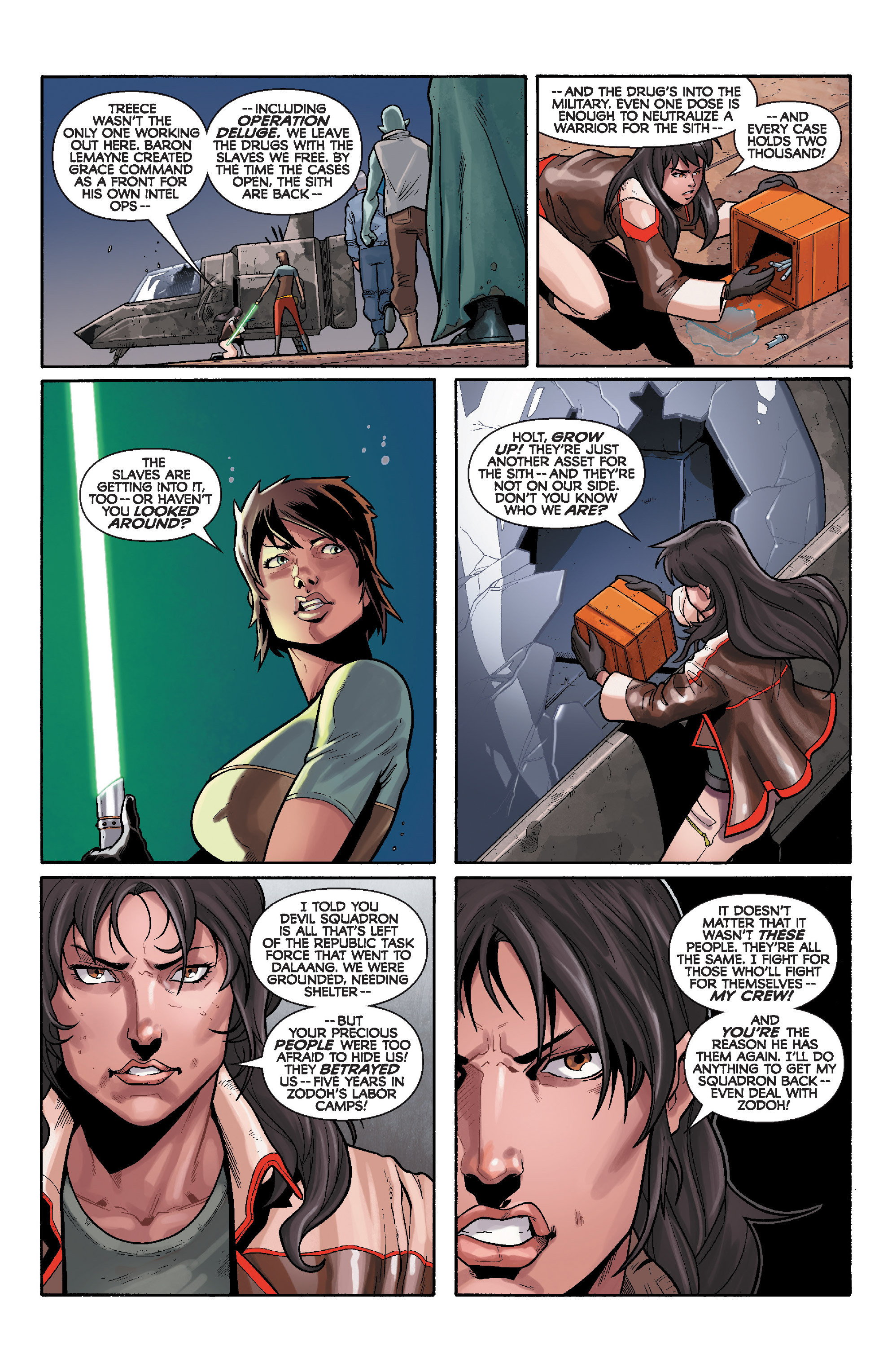 Read online Star Wars: Knight Errant - Deluge comic -  Issue #3 - 22