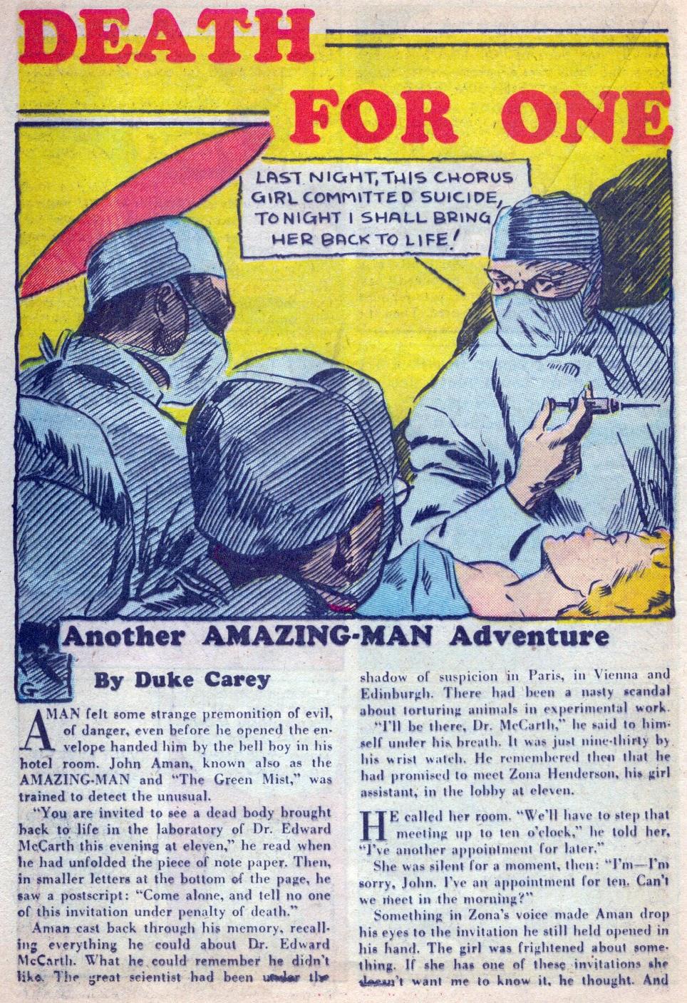 Read online Amazing Man Comics comic -  Issue #15 - 43