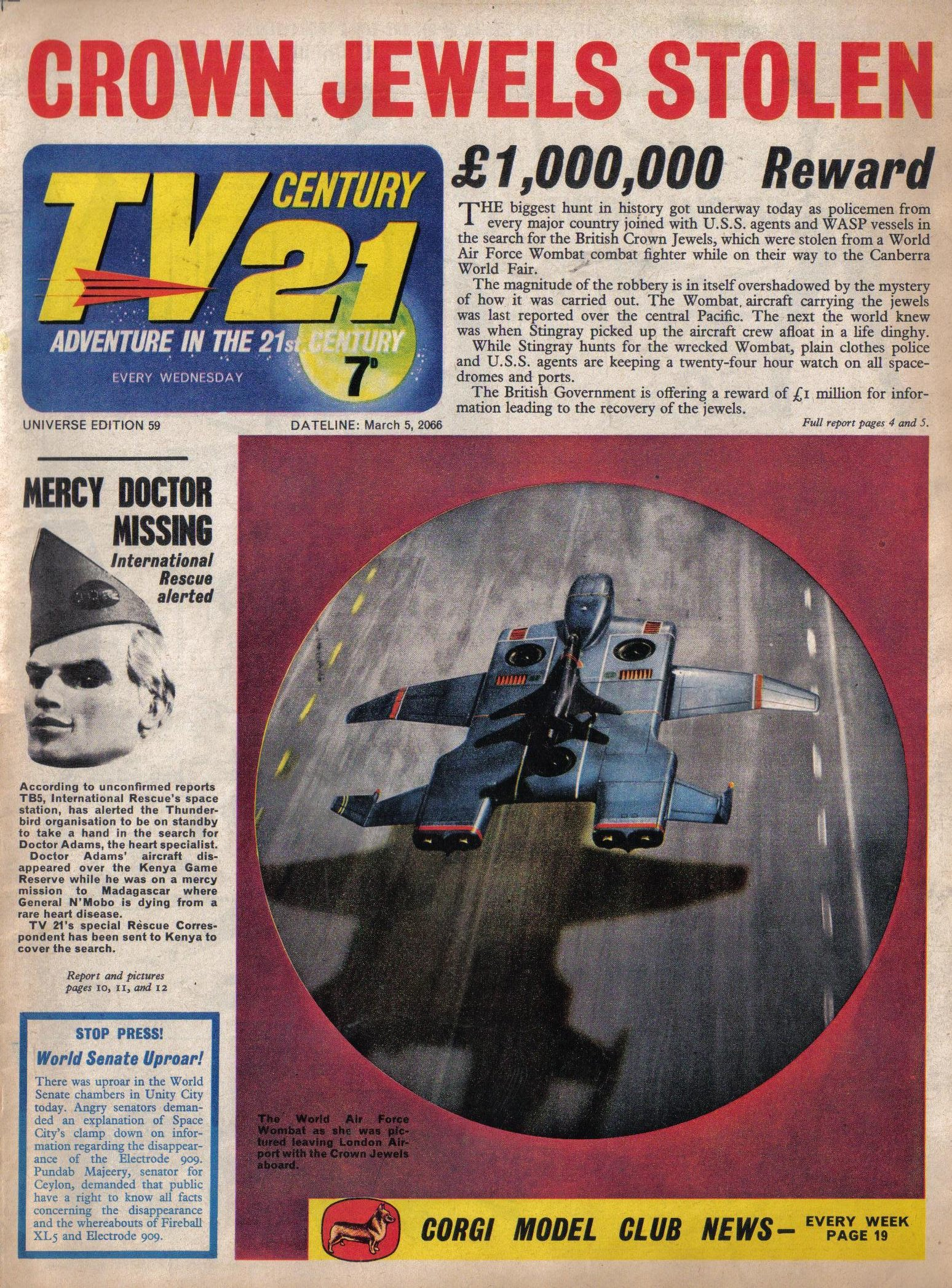 Read online TV Century 21 (TV 21) comic -  Issue #59 - 1