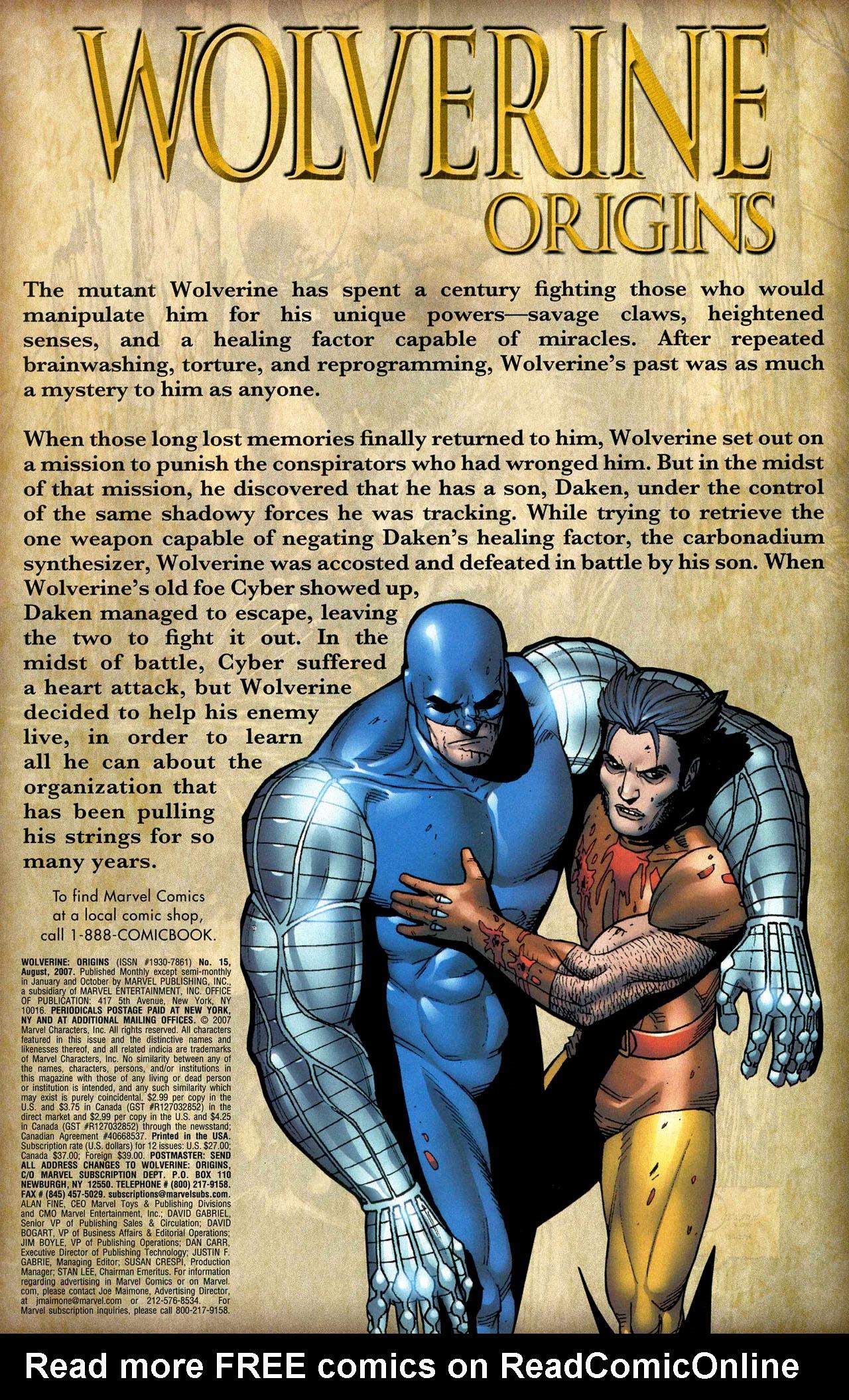 Read online Wolverine: Origins comic -  Issue #15 - 2